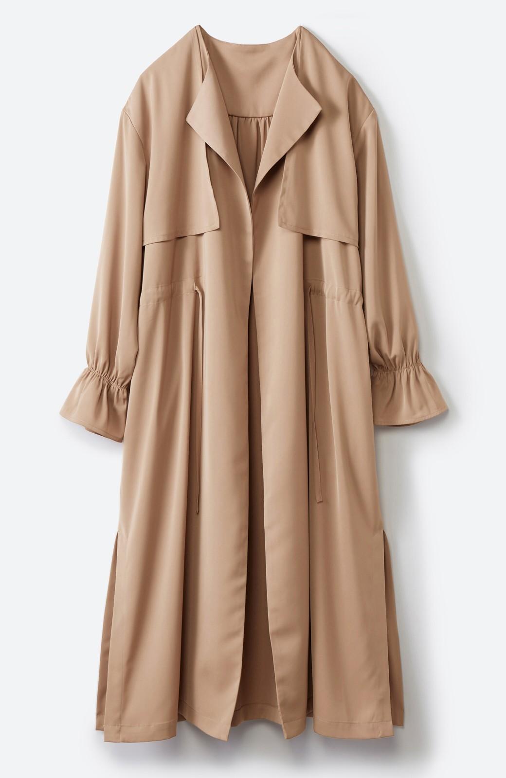 haco! パッと羽織ってルンとする 柔らか素材の女っぽロングコート <ライトブラウン>の商品写真21