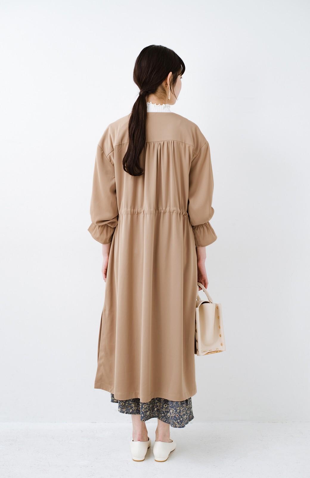 haco! パッと羽織ってルンとする 柔らか素材の女っぽロングコート <ライトブラウン>の商品写真20