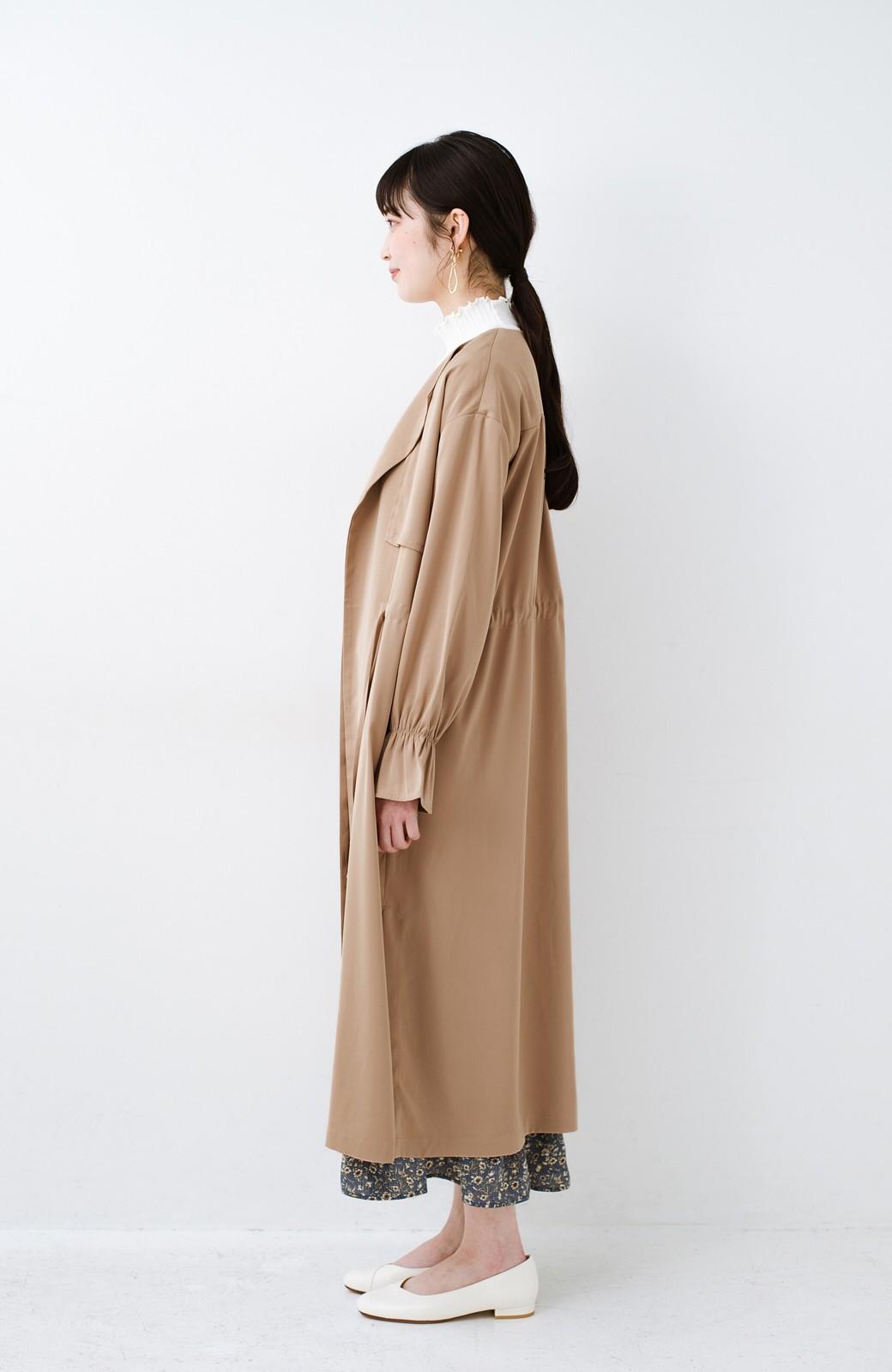 haco! パッと羽織ってルンとする 柔らか素材の女っぽロングコート <ライトブラウン>の商品写真12