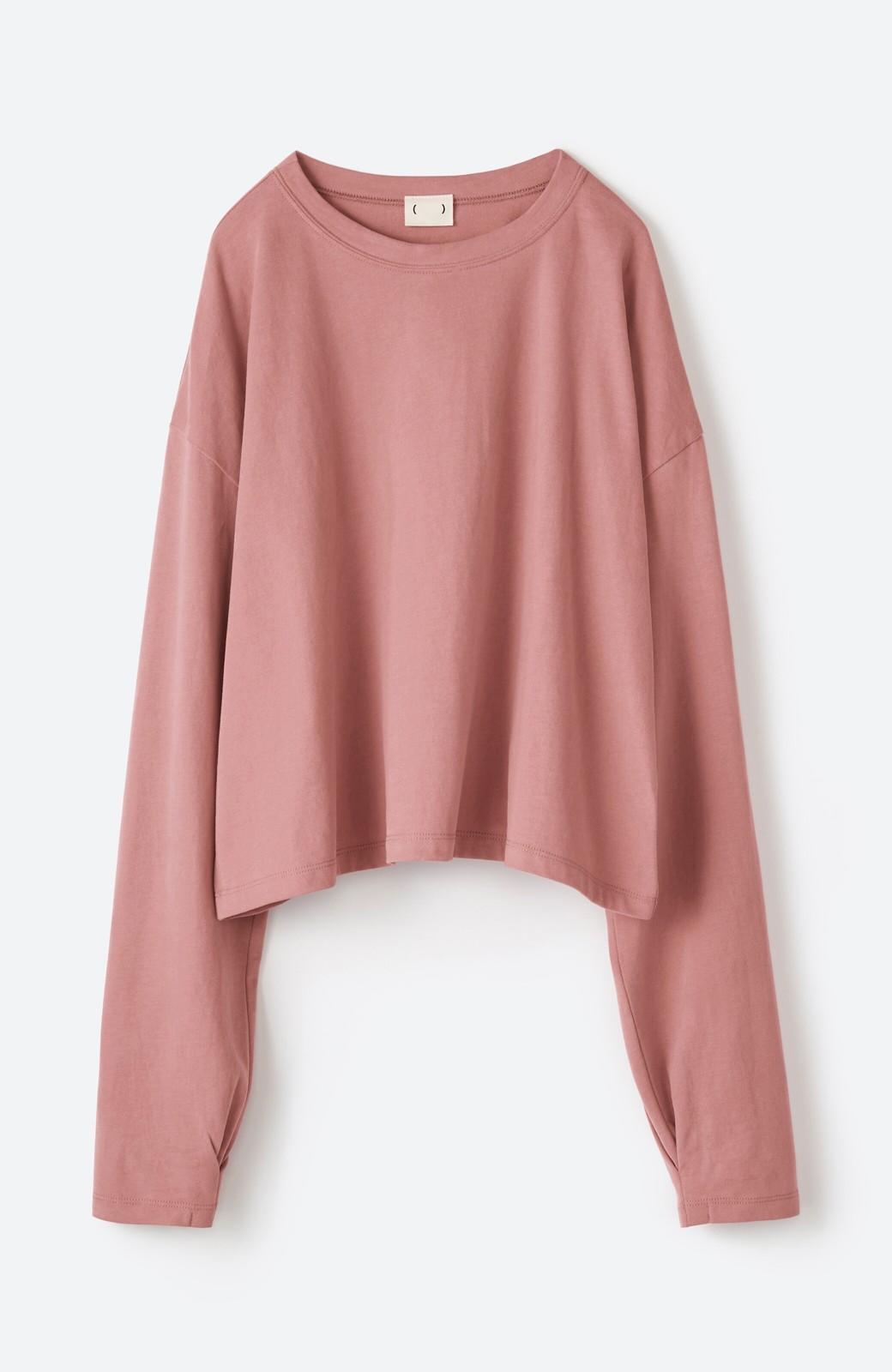 haco!  ゆるシルエットがオシャレ見え&華奢見せを叶える 便利すぎるロングTシャツ <ピンク>の商品写真20