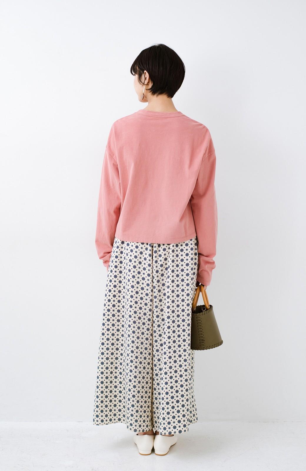 haco!  ゆるシルエットがオシャレ見え&華奢見せを叶える 便利すぎるロングTシャツ <ピンク>の商品写真14