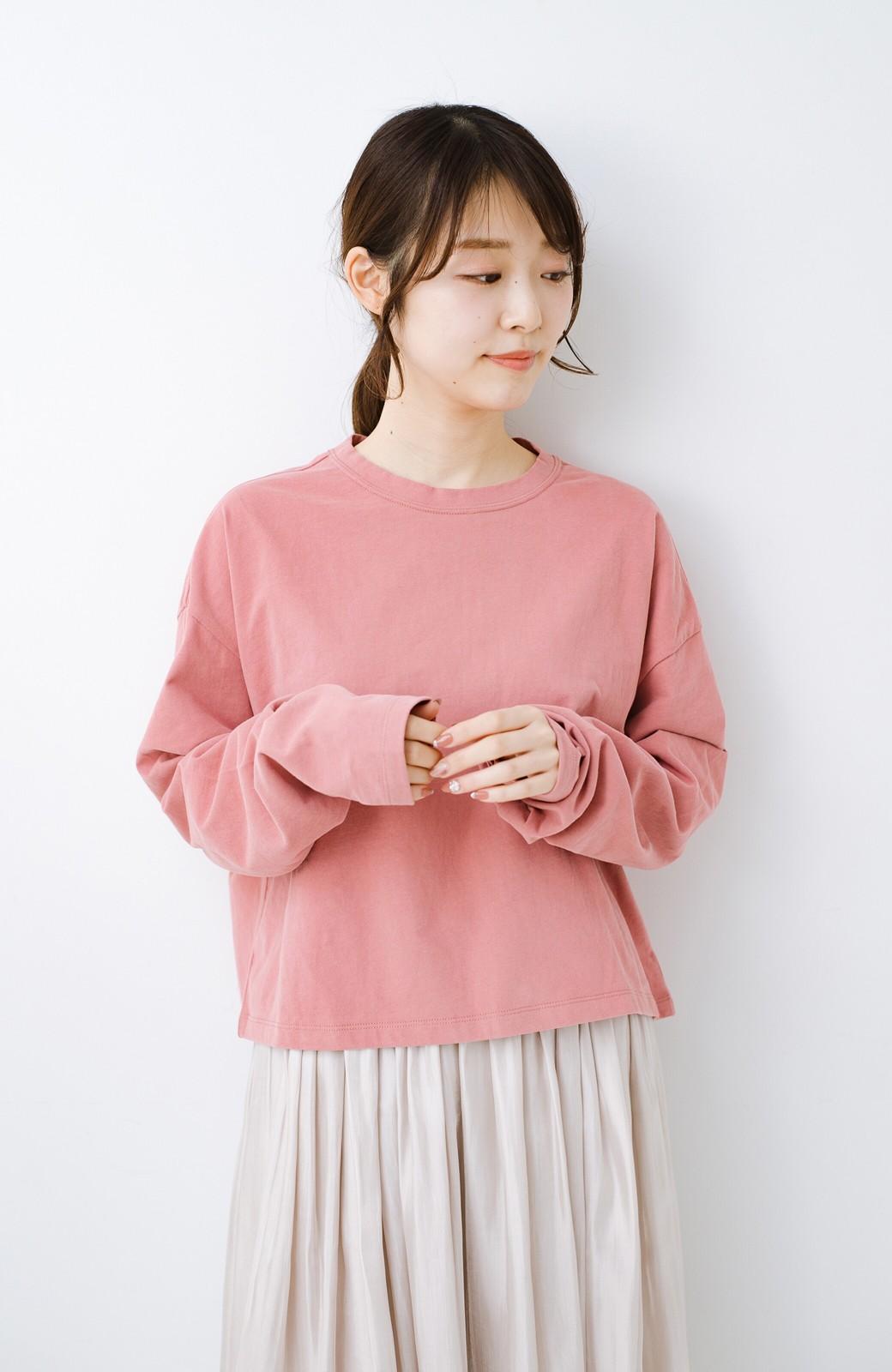 haco!  ゆるシルエットがオシャレ見え&華奢見せを叶える 便利すぎるロングTシャツ <ピンク>の商品写真5