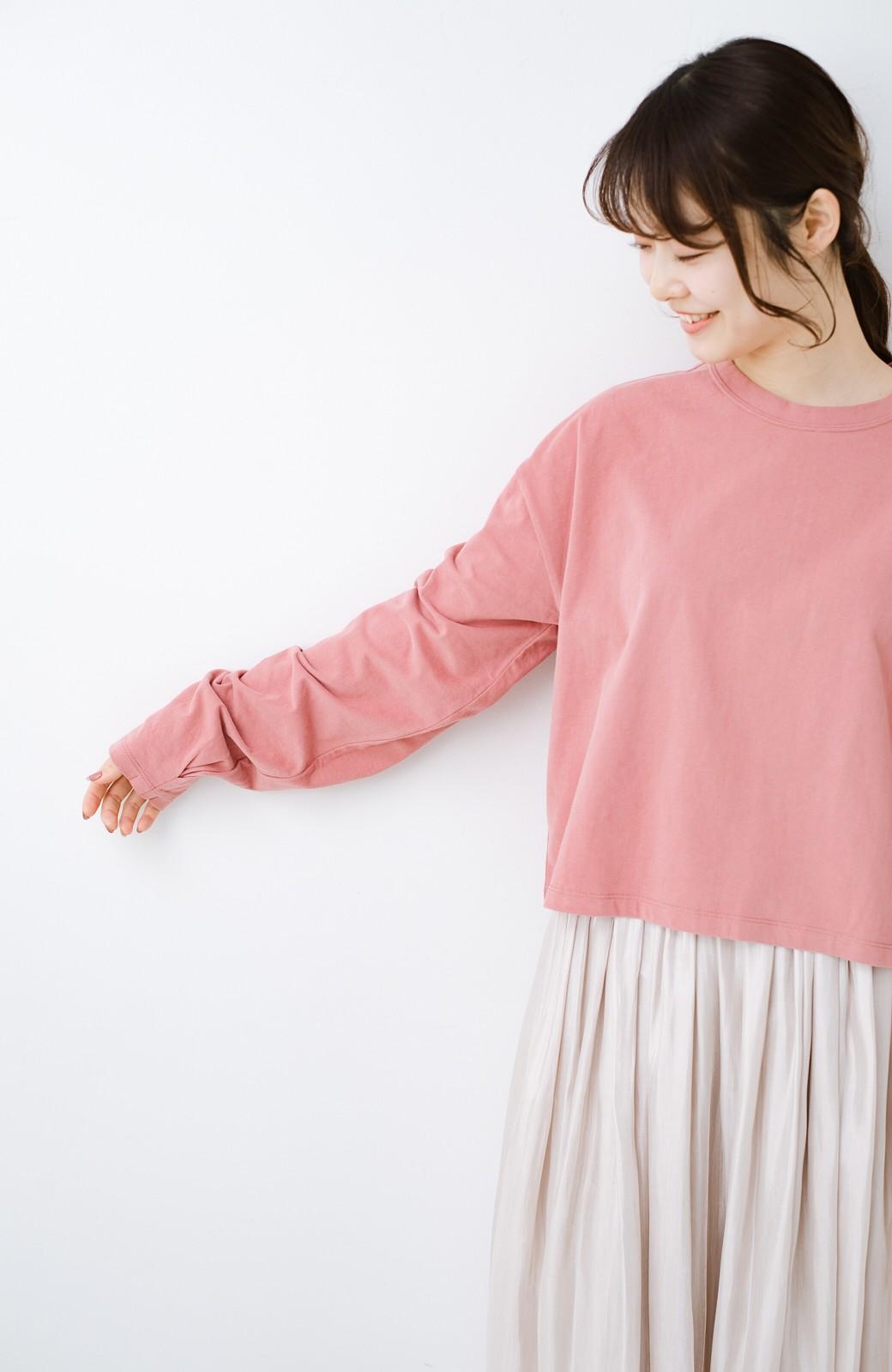 haco!  ゆるシルエットがオシャレ見え&華奢見せを叶える 便利すぎるロングTシャツ <ピンク>の商品写真15