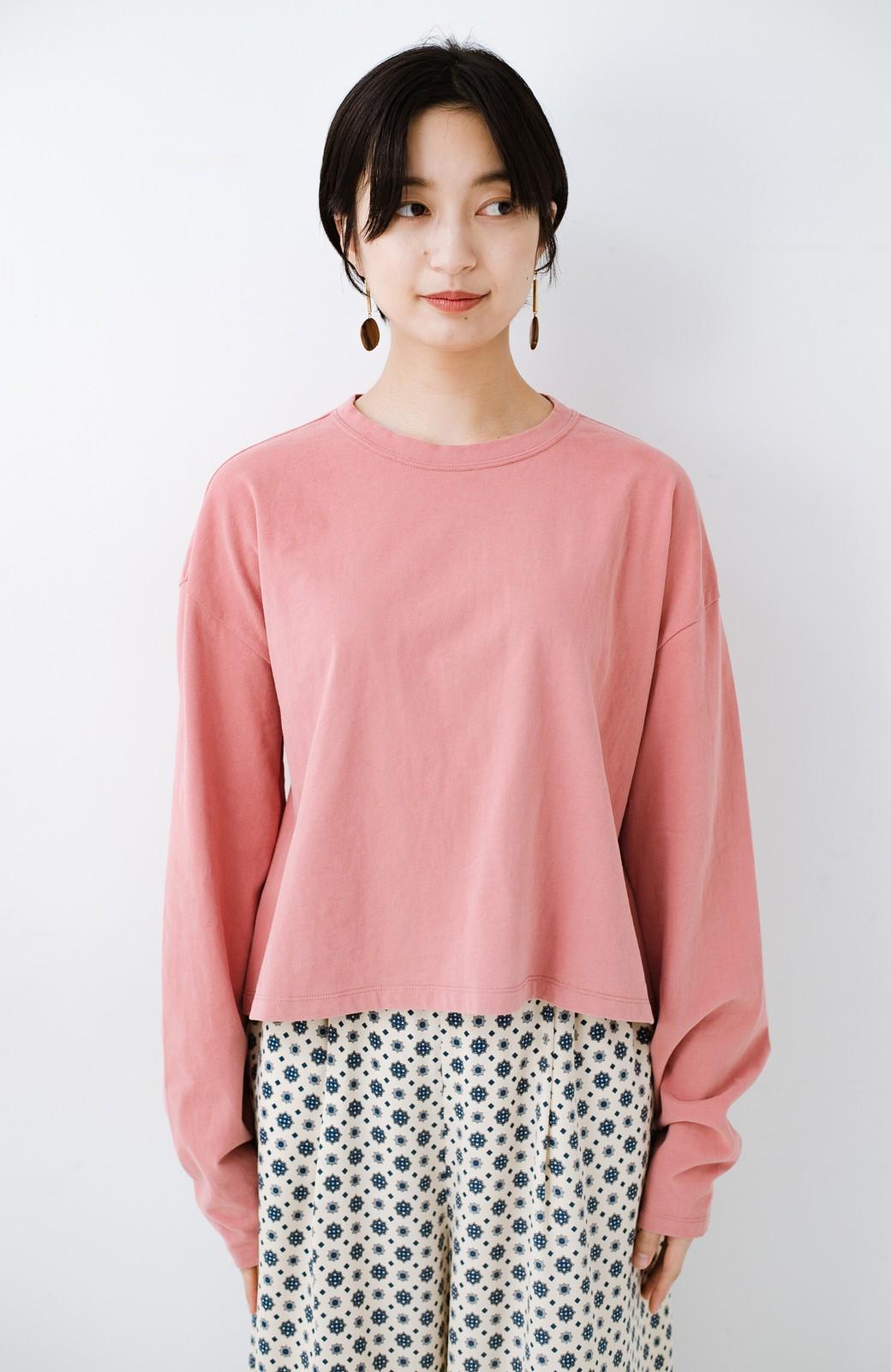 haco!  ゆるシルエットがオシャレ見え&華奢見せを叶える 便利すぎるロングTシャツ <ピンク>の商品写真16