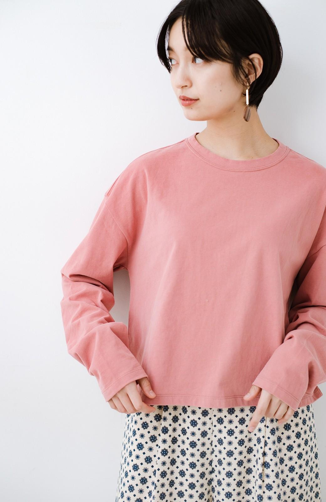 haco!  ゆるシルエットがオシャレ見え&華奢見せを叶える 便利すぎるロングTシャツ <ピンク>の商品写真1
