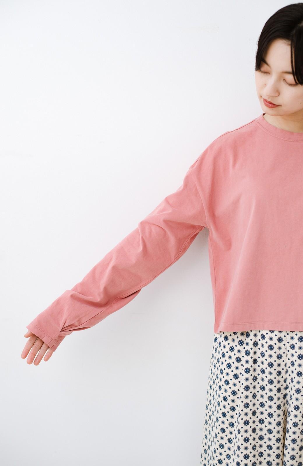 haco!  ゆるシルエットがオシャレ見え&華奢見せを叶える 便利すぎるロングTシャツ <ピンク>の商品写真17