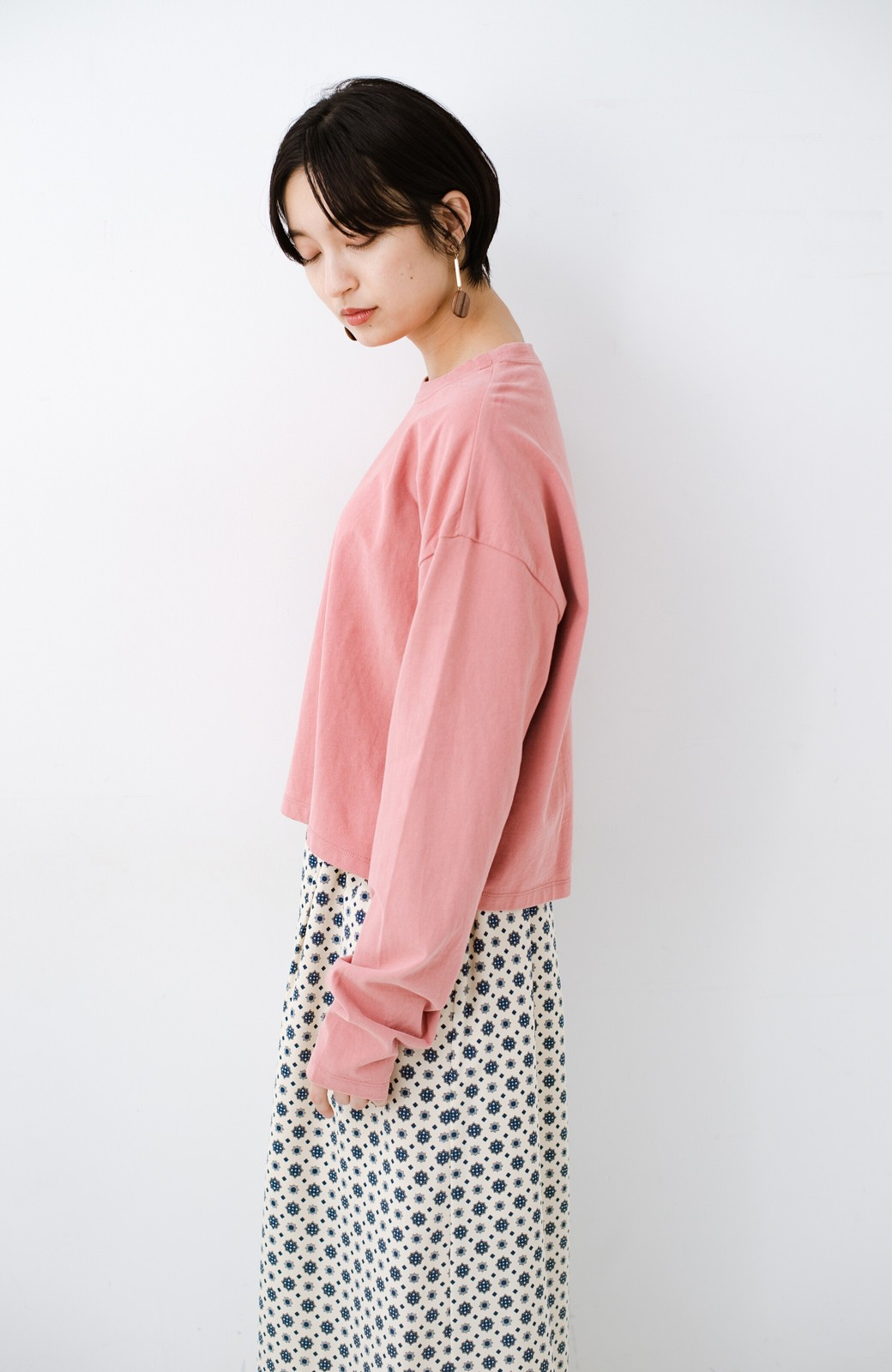 haco!  ゆるシルエットがオシャレ見え&華奢見せを叶える 便利すぎるロングTシャツ <ピンク>の商品写真18