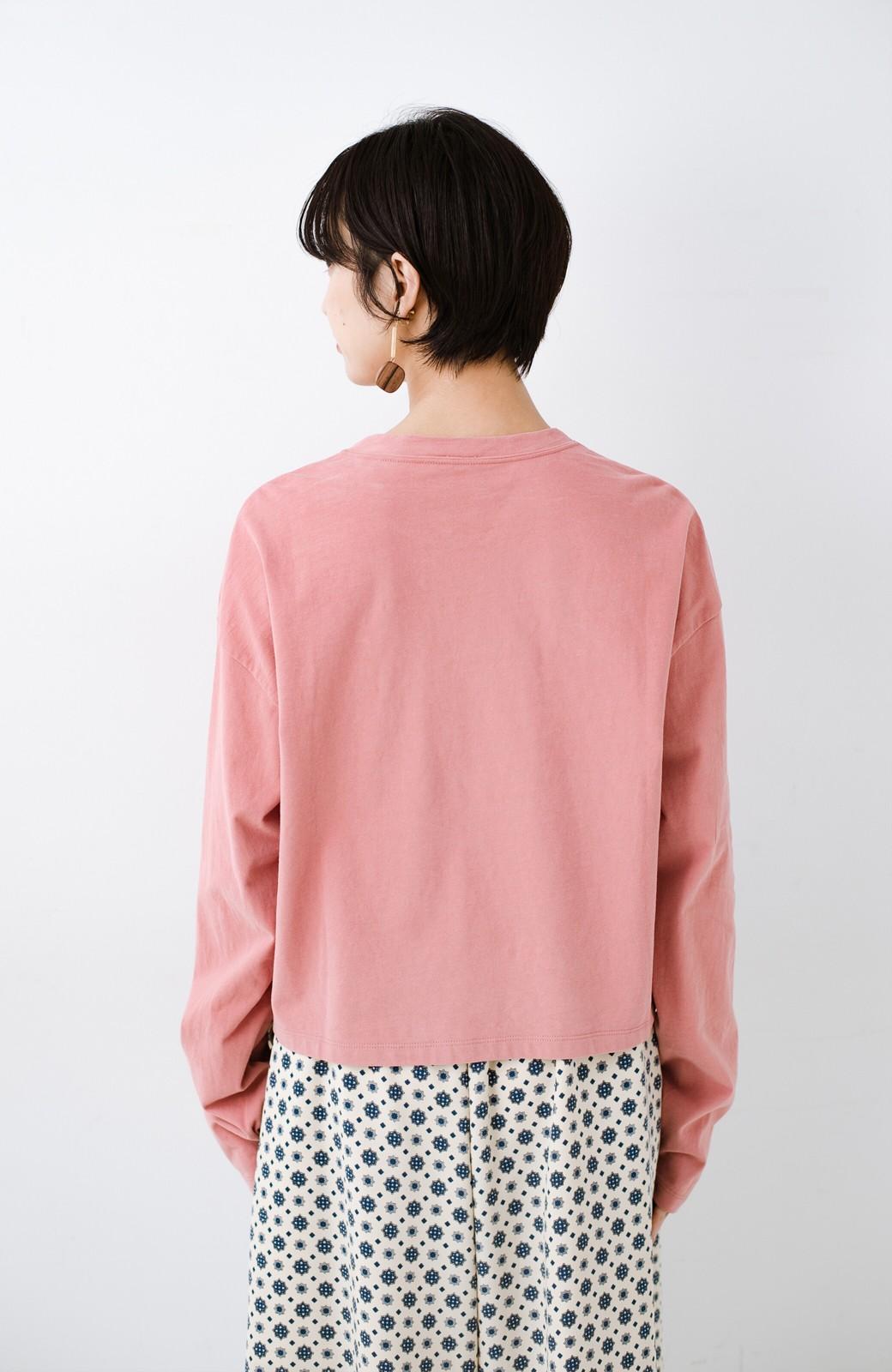 haco!  ゆるシルエットがオシャレ見え&華奢見せを叶える 便利すぎるロングTシャツ <ピンク>の商品写真19