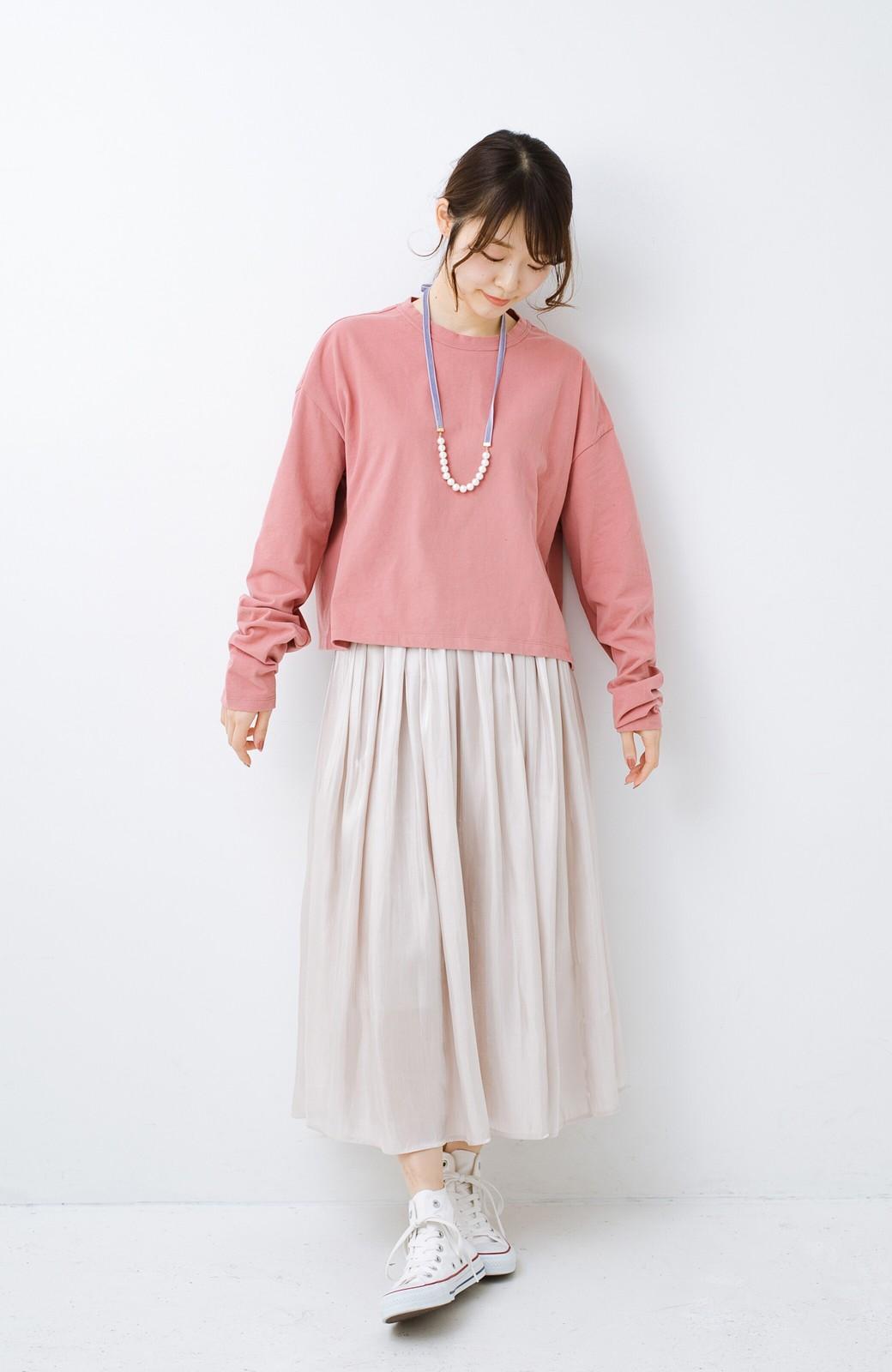 haco!  ゆるシルエットがオシャレ見え&華奢見せを叶える 便利すぎるロングTシャツ <ピンク>の商品写真8