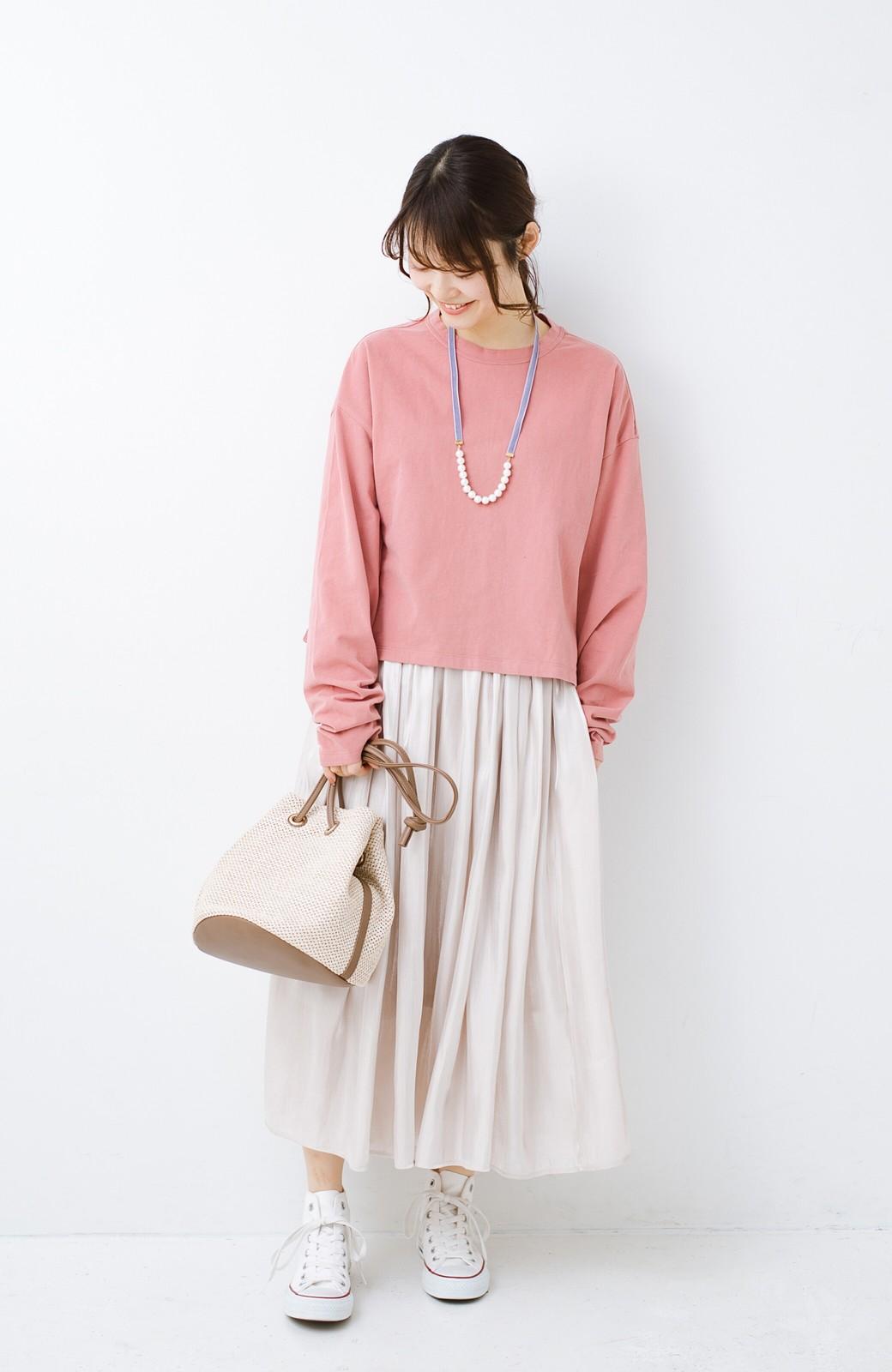 haco!  ゆるシルエットがオシャレ見え&華奢見せを叶える 便利すぎるロングTシャツ <ピンク>の商品写真9