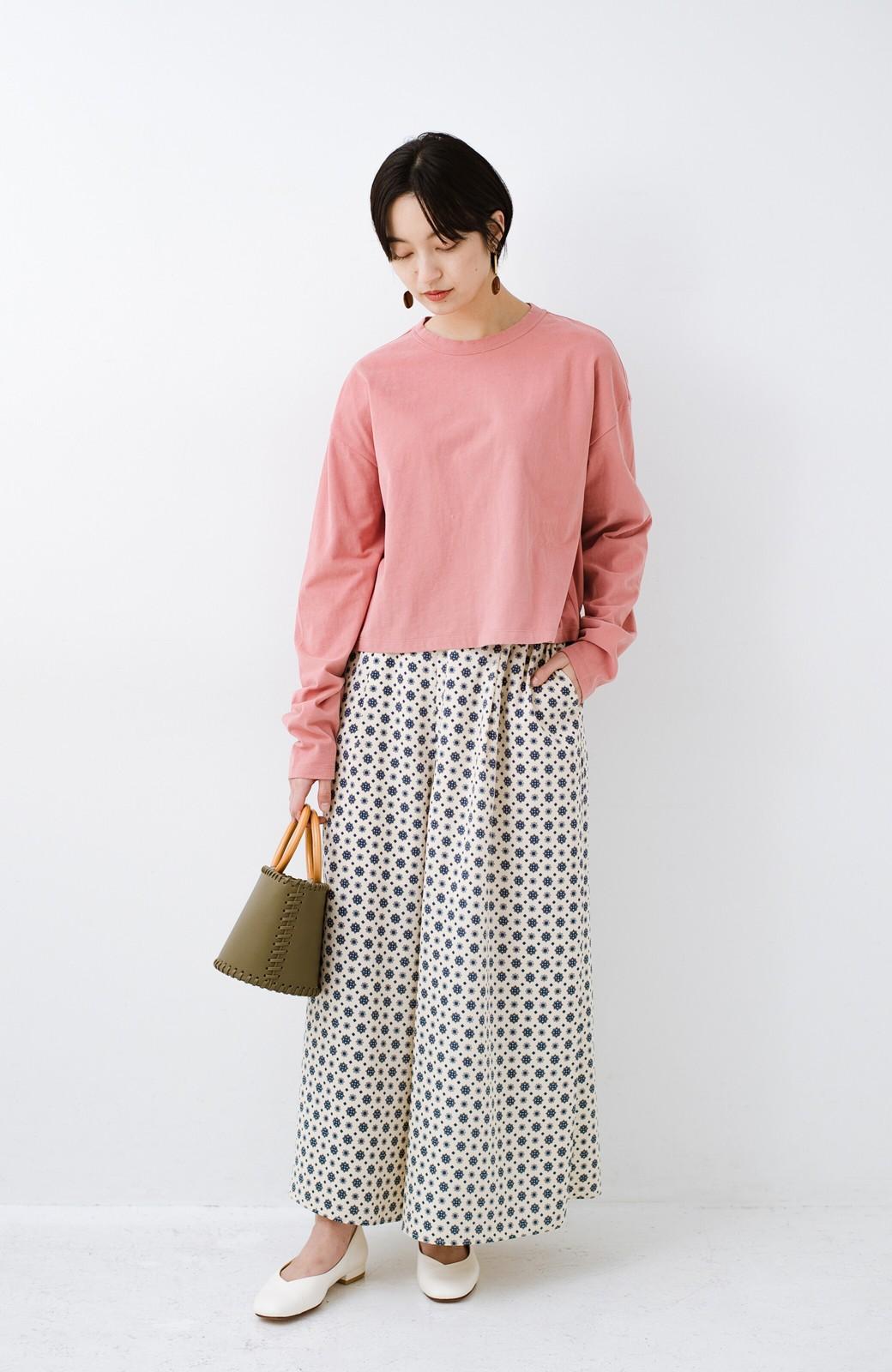 haco!  ゆるシルエットがオシャレ見え&華奢見せを叶える 便利すぎるロングTシャツ <ピンク>の商品写真10
