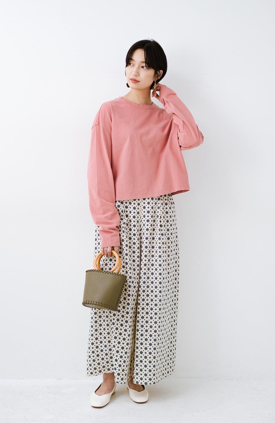 haco!  ゆるシルエットがオシャレ見え&華奢見せを叶える 便利すぎるロングTシャツ <ピンク>の商品写真11