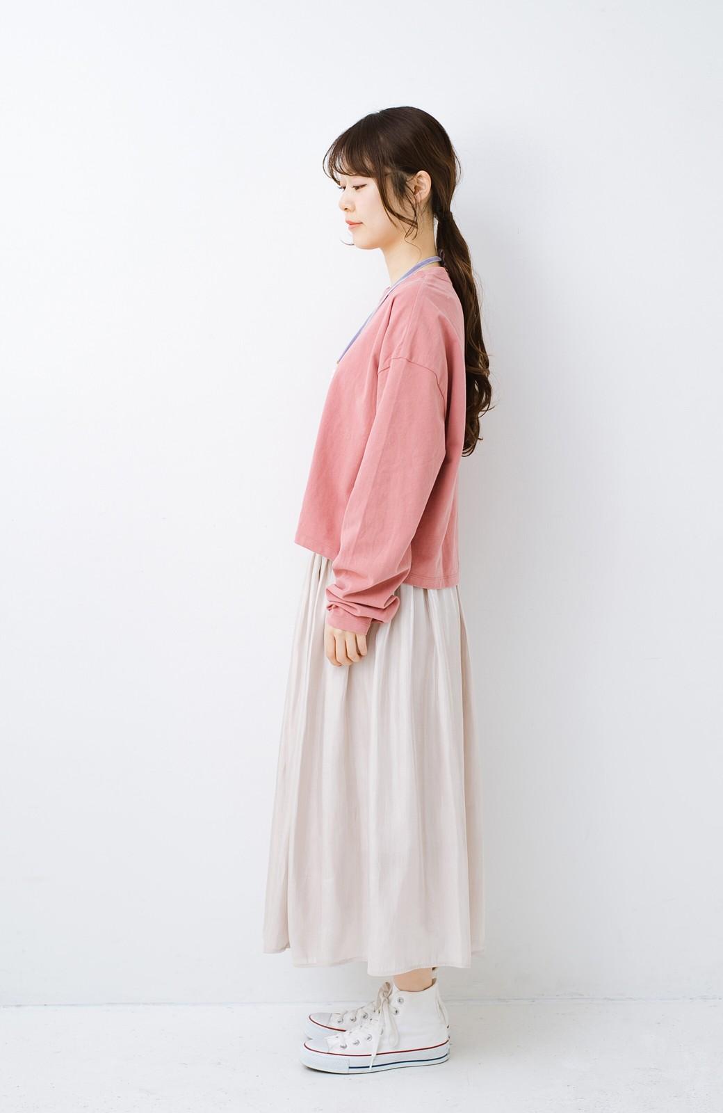 haco!  ゆるシルエットがオシャレ見え&華奢見せを叶える 便利すぎるロングTシャツ <ピンク>の商品写真12