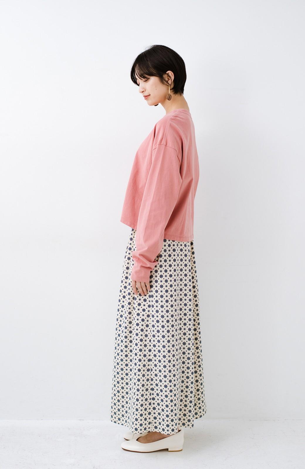 haco!  ゆるシルエットがオシャレ見え&華奢見せを叶える 便利すぎるロングTシャツ <ピンク>の商品写真13