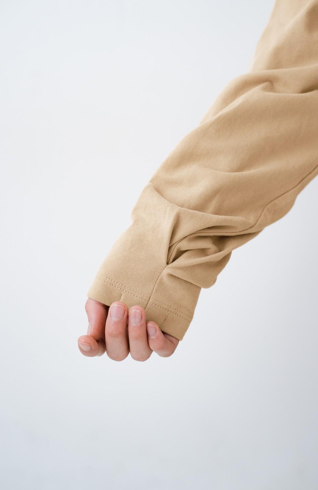 haco!  ゆるシルエットがオシャレ見え&華奢見せを叶える 便利すぎるロングTシャツ <ライトベージュ>の商品写真7