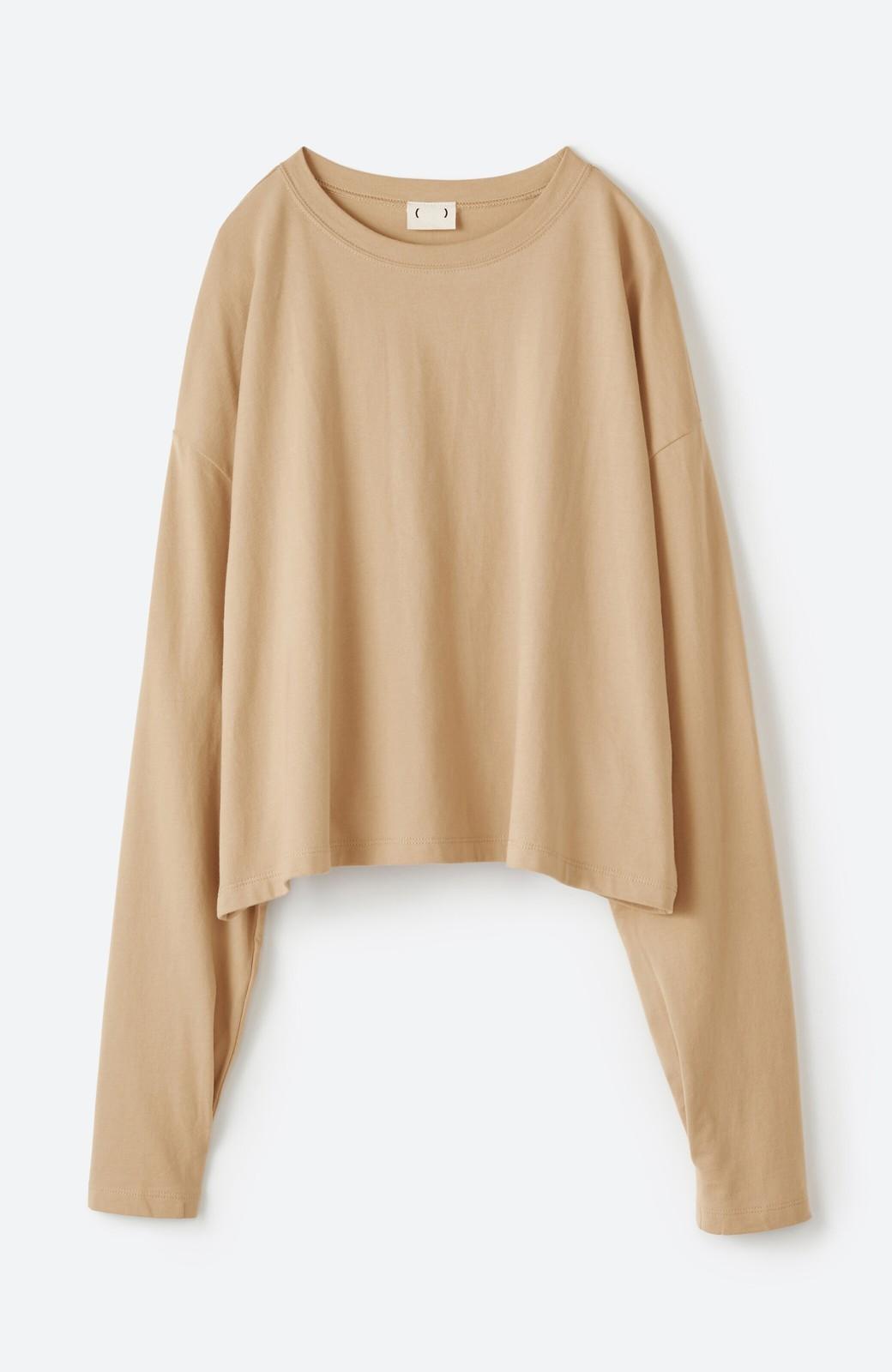 haco!  ゆるシルエットがオシャレ見え&華奢見せを叶える 便利すぎるロングTシャツ <ライトベージュ>の商品写真12