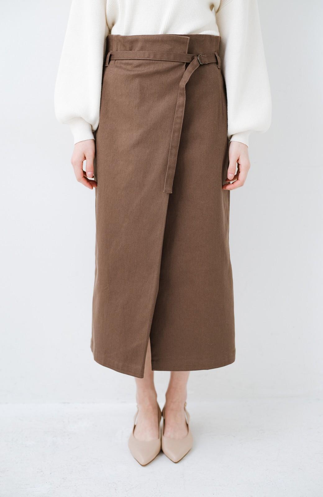 haco! 露出せずとも女っぽい すっきりシルエットが自慢のシンプルタイトスカート <ブラウン>の商品写真6