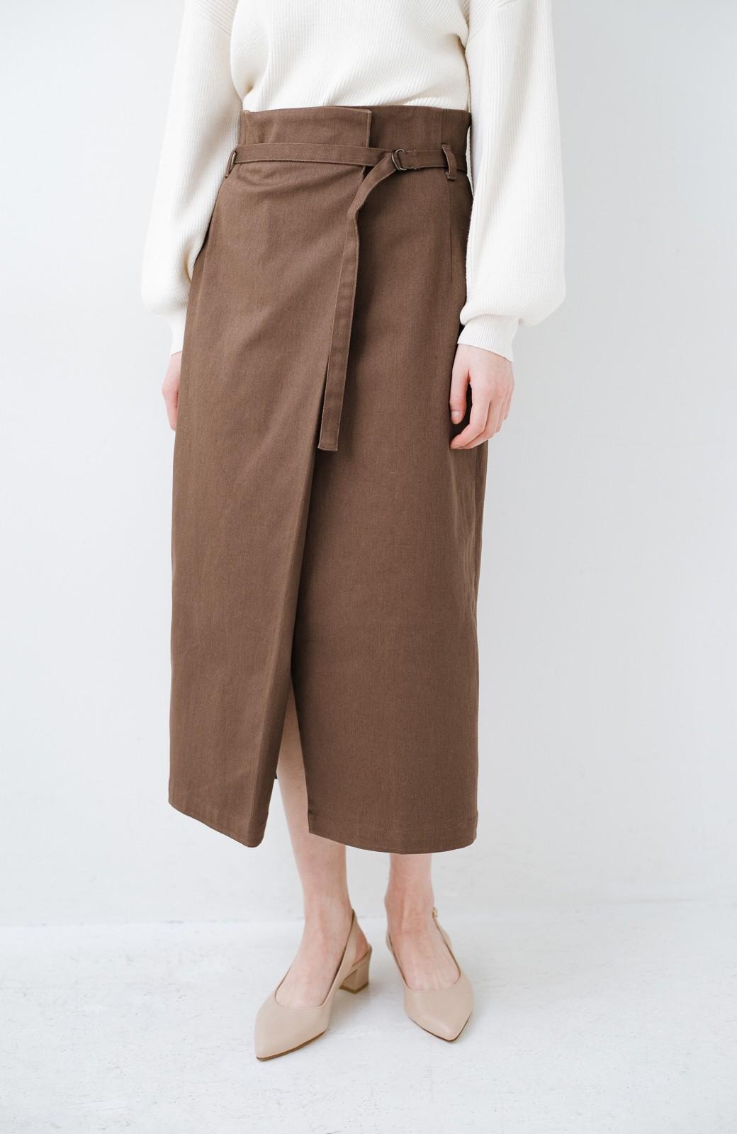 haco! 露出せずとも女っぽい すっきりシルエットが自慢のシンプルタイトスカート <ブラウン>の商品写真3
