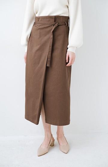 haco! 露出せずとも女っぽい すっきりシルエットが自慢のシンプルタイトスカート <ブラウン>の商品写真