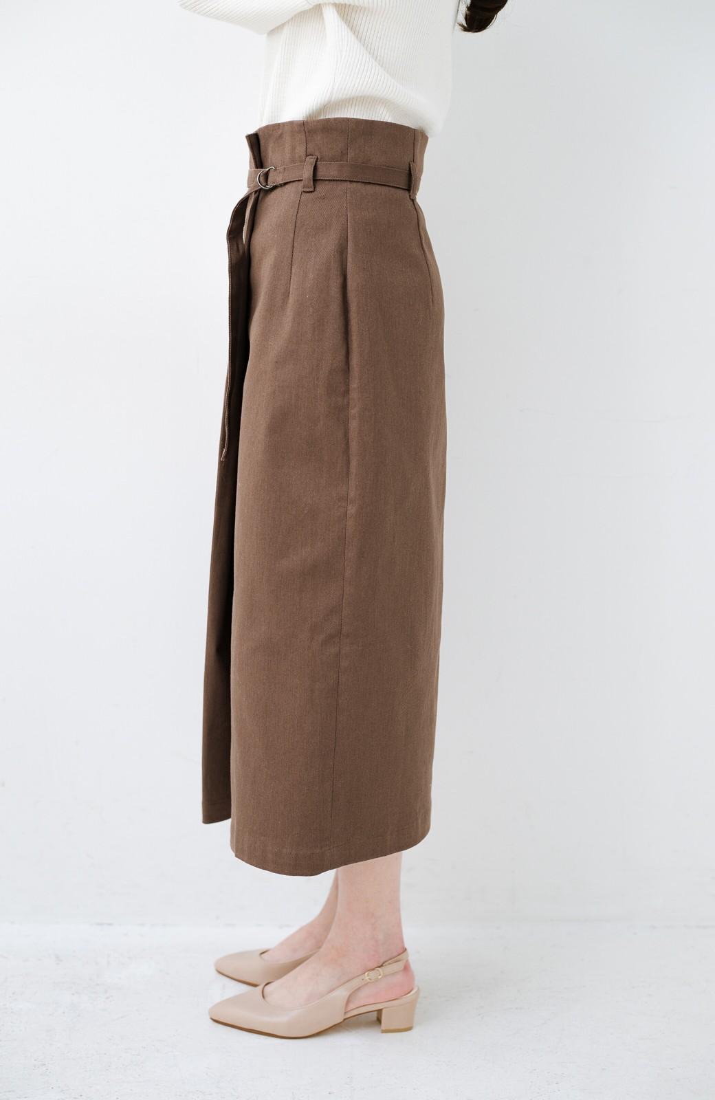 haco! 露出せずとも女っぽい すっきりシルエットが自慢のシンプルタイトスカート <ブラウン>の商品写真7