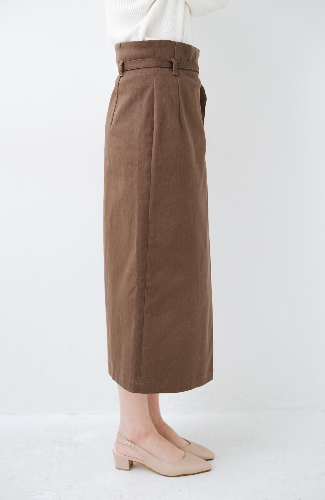 haco! 露出せずとも女っぽい すっきりシルエットが自慢のシンプルタイトスカート <ブラウン>の商品写真8