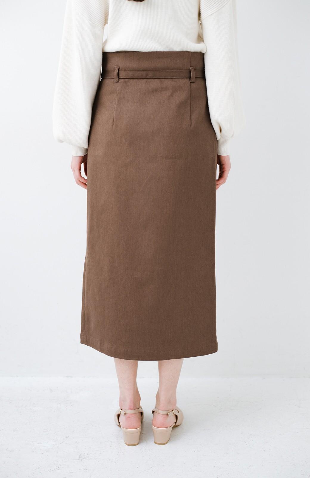 haco! 露出せずとも女っぽい すっきりシルエットが自慢のシンプルタイトスカート <ブラウン>の商品写真9