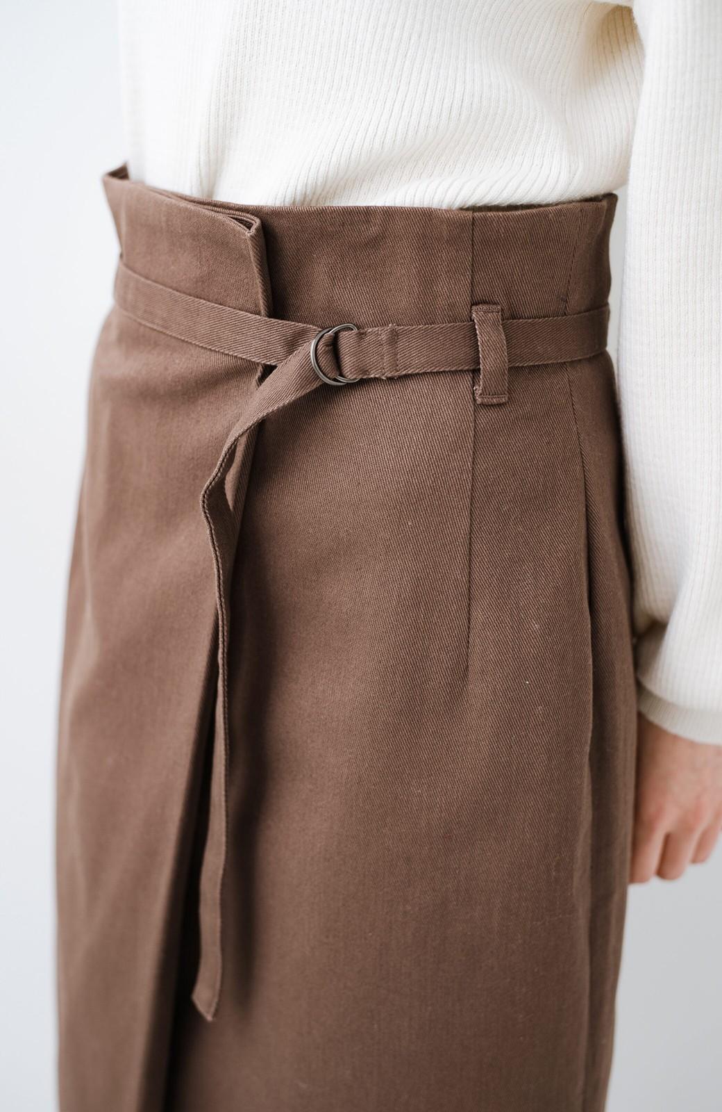 haco! 露出せずとも女っぽい すっきりシルエットが自慢のシンプルタイトスカート <ブラウン>の商品写真11