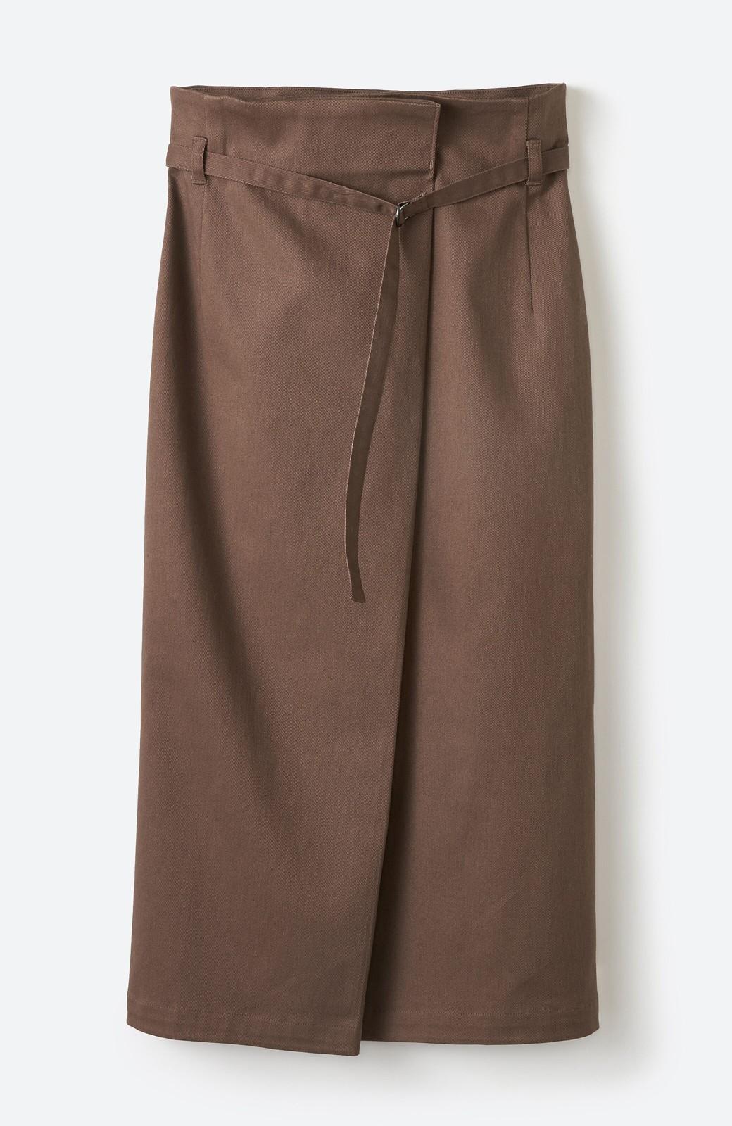 haco! 露出せずとも女っぽい すっきりシルエットが自慢のシンプルタイトスカート <ブラウン>の商品写真26