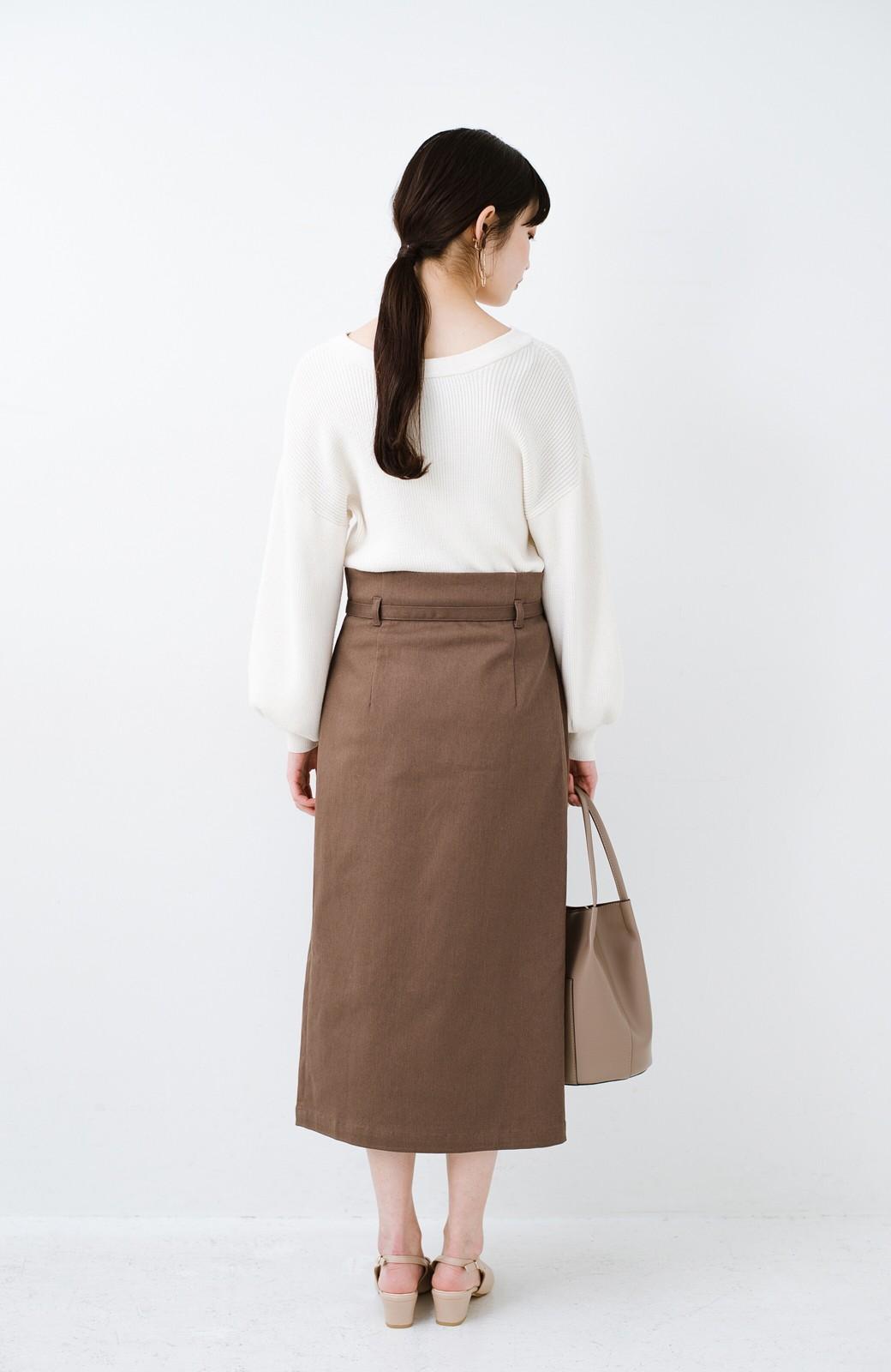 haco! 露出せずとも女っぽい すっきりシルエットが自慢のシンプルタイトスカート <ブラウン>の商品写真21
