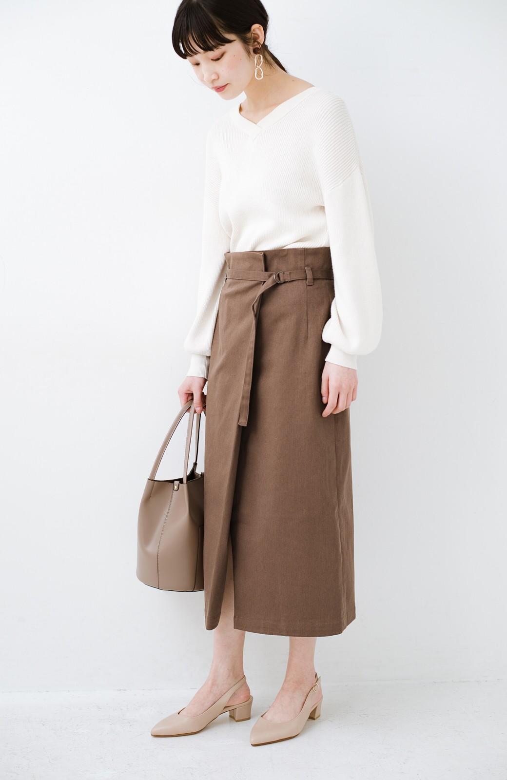 haco! 露出せずとも女っぽい すっきりシルエットが自慢のシンプルタイトスカート <ブラウン>の商品写真22