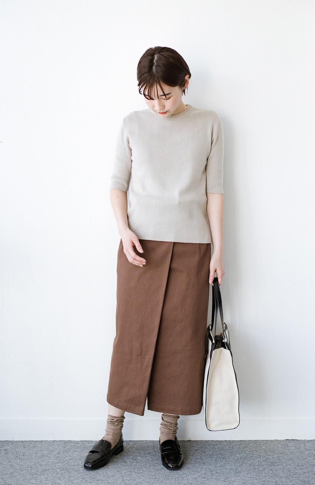haco! 露出せずとも女っぽい すっきりシルエットが自慢のシンプルタイトスカート <ブラウン>の商品写真16