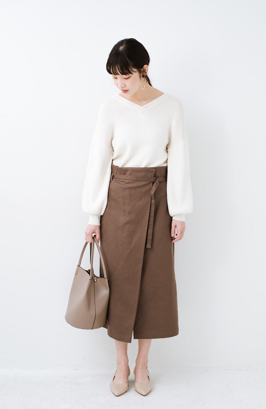 haco! 露出せずとも女っぽい すっきりシルエットが自慢のシンプルタイトスカート <ブラウン>の商品写真14