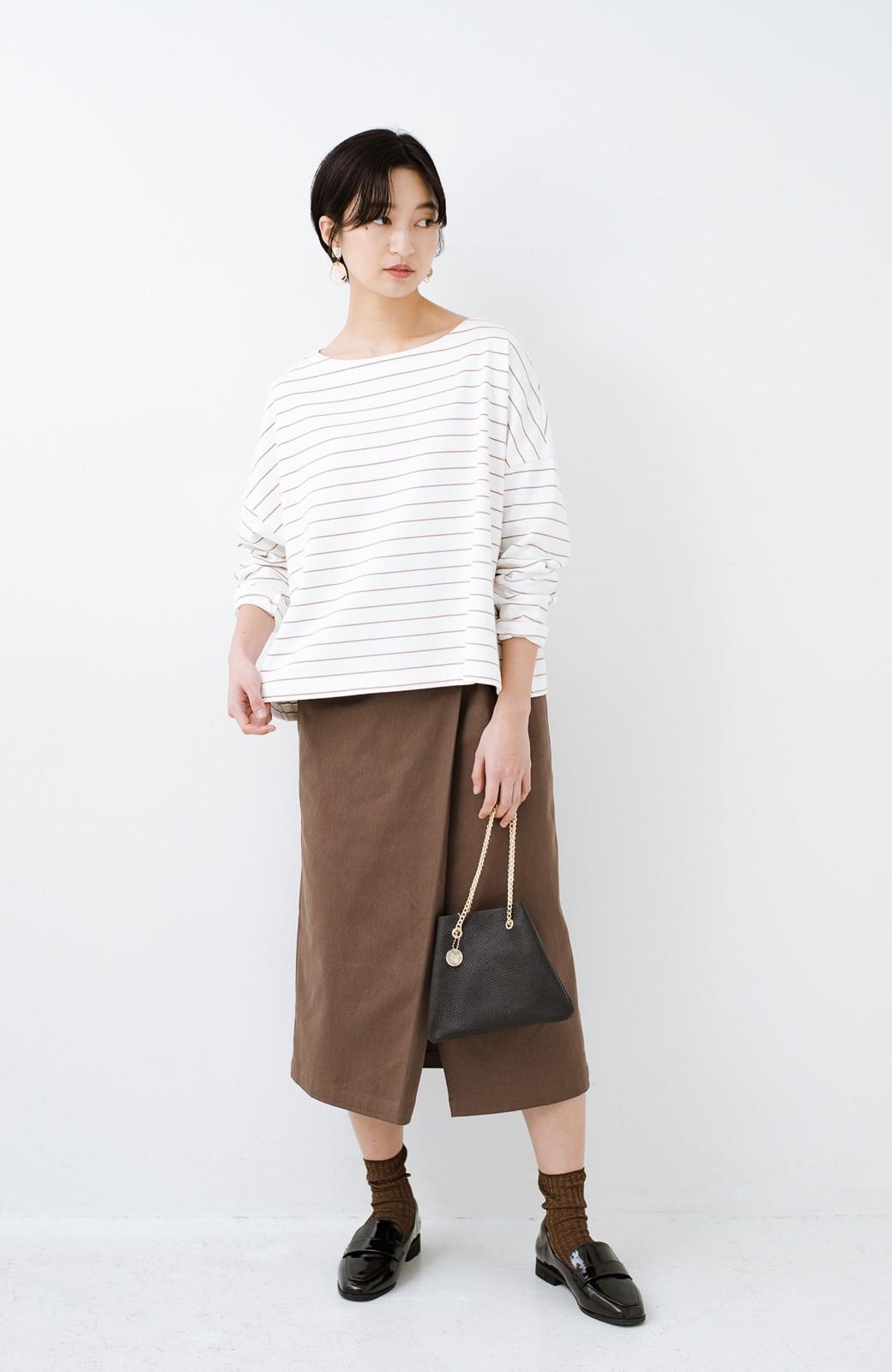 haco! 露出せずとも女っぽい すっきりシルエットが自慢のシンプルタイトスカート <ブラウン>の商品写真17