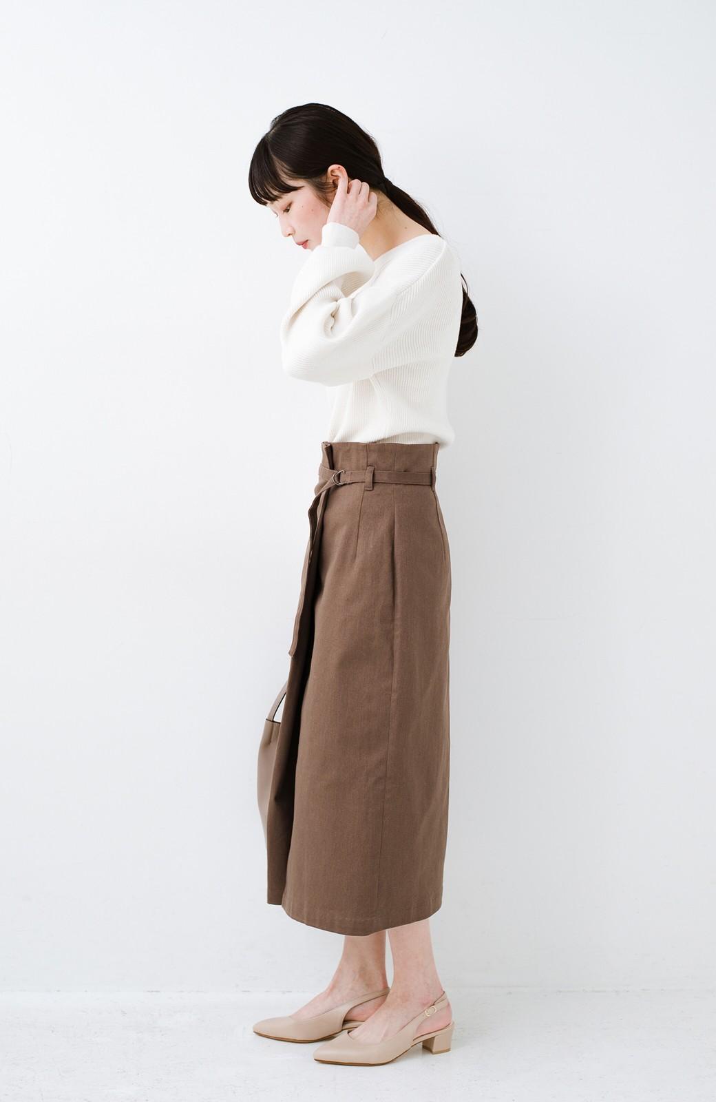 haco! 露出せずとも女っぽい すっきりシルエットが自慢のシンプルタイトスカート <ブラウン>の商品写真15