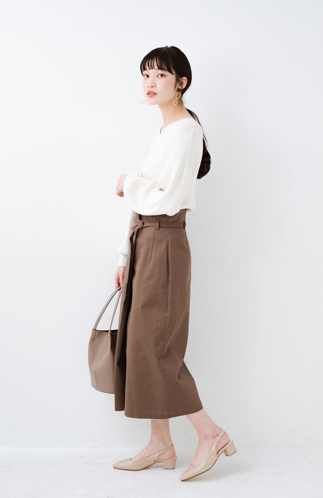 haco! 露出せずとも女っぽい すっきりシルエットが自慢のシンプルタイトスカート <ブラウン>の商品写真19