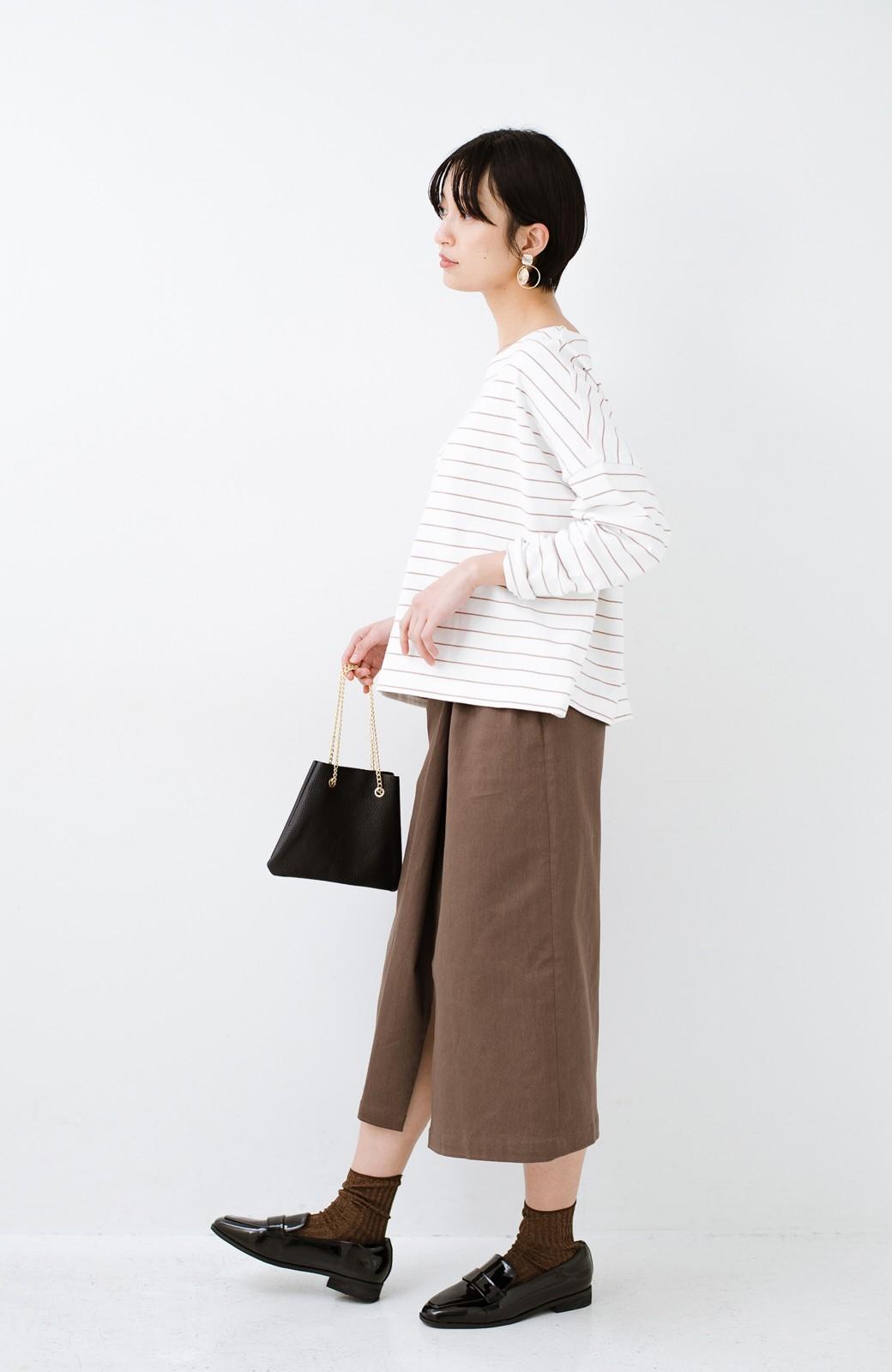 haco! 露出せずとも女っぽい すっきりシルエットが自慢のシンプルタイトスカート <ブラウン>の商品写真20