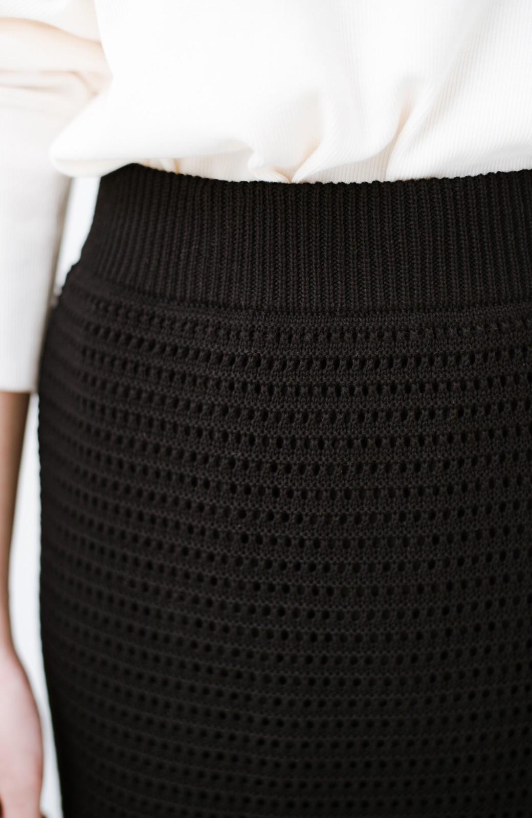 haco! 単品はもちろん重ね着してもかわいさが増す!透かし編みマーメイドスカート <ブラック>の商品写真7