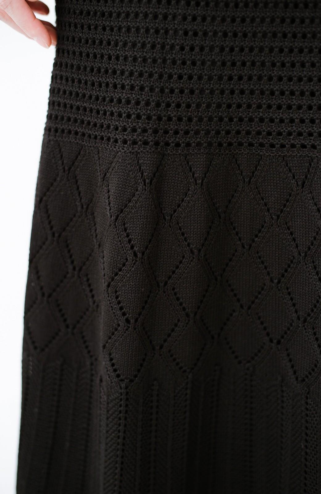 haco! 単品はもちろん重ね着してもかわいさが増す!透かし編みマーメイドスカート <ブラック>の商品写真8