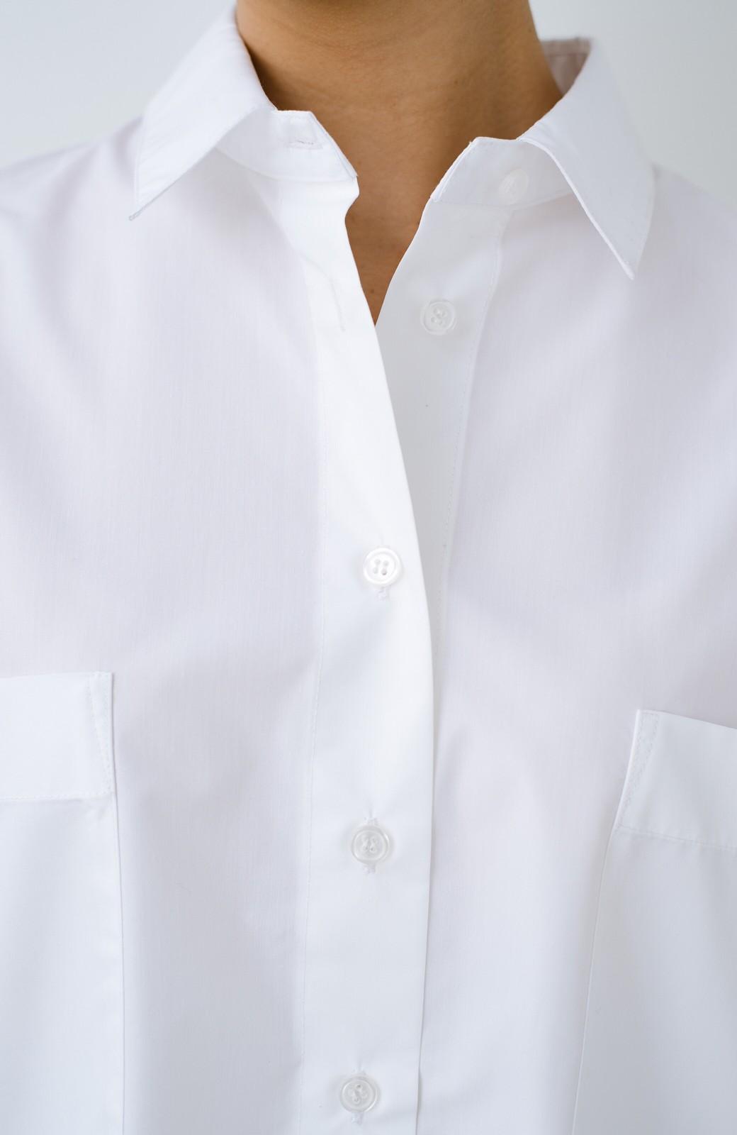 haco! サイズ感がオシャレに見せてくれる 真面目すぎないビッグシャツ <ホワイト>の商品写真5