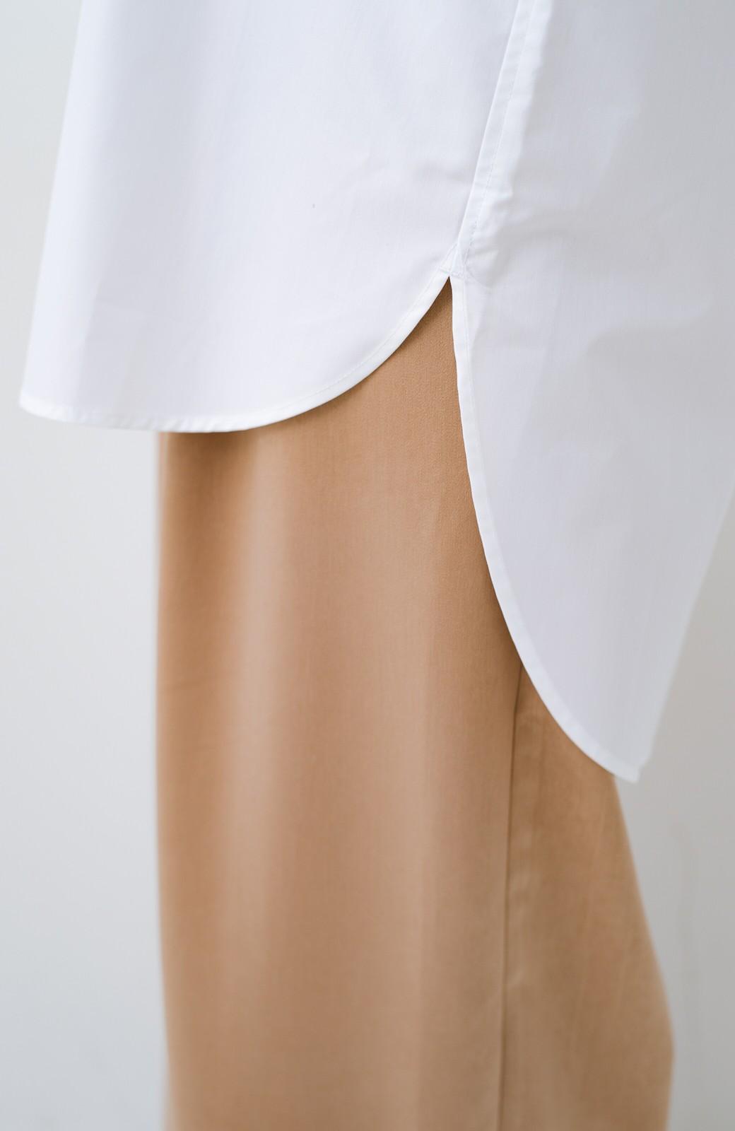 haco! サイズ感がオシャレに見せてくれる 真面目すぎないビッグシャツ <ホワイト>の商品写真7