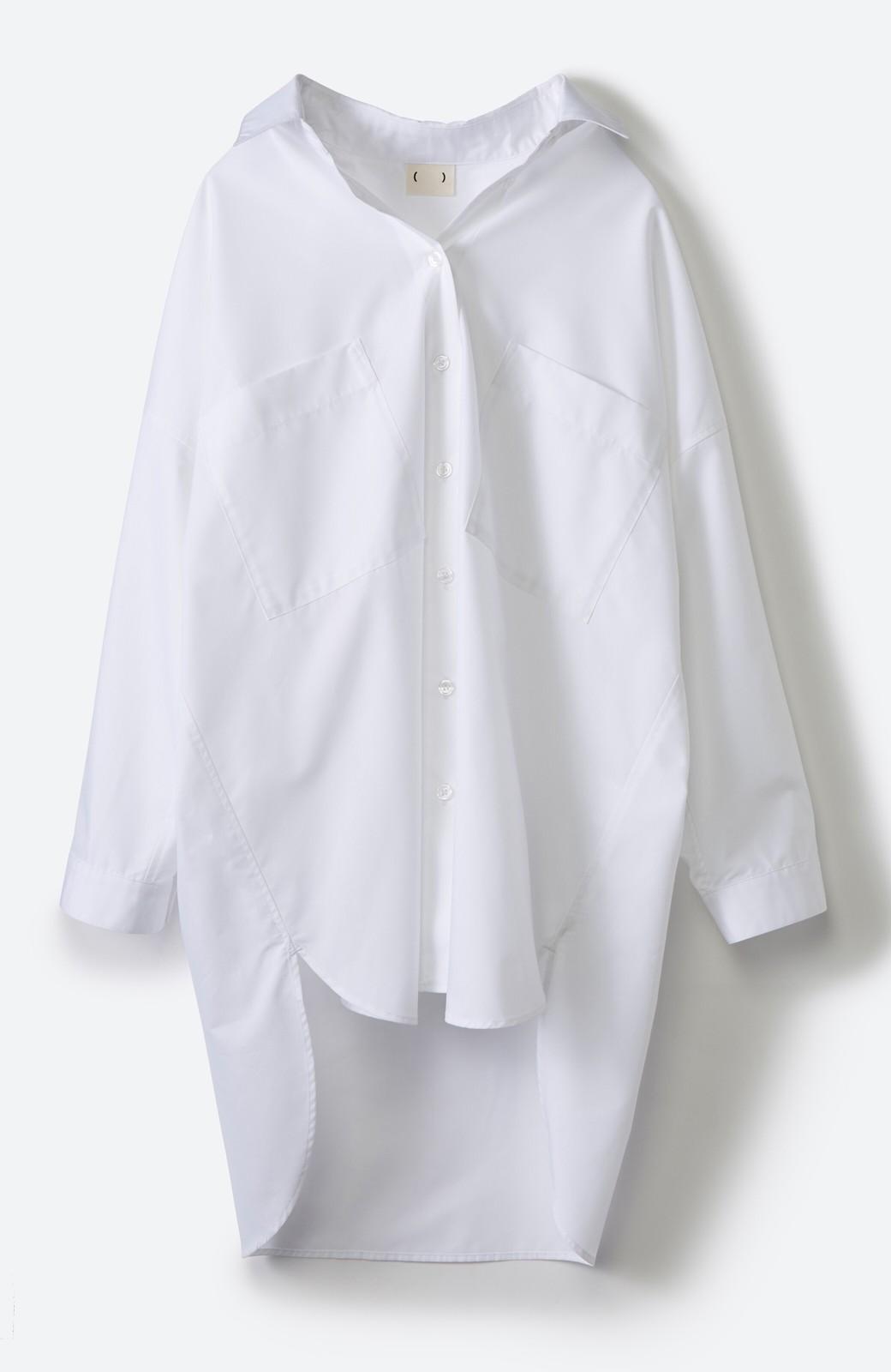 haco! サイズ感がオシャレに見せてくれる 真面目すぎないビッグシャツ <ホワイト>の商品写真16