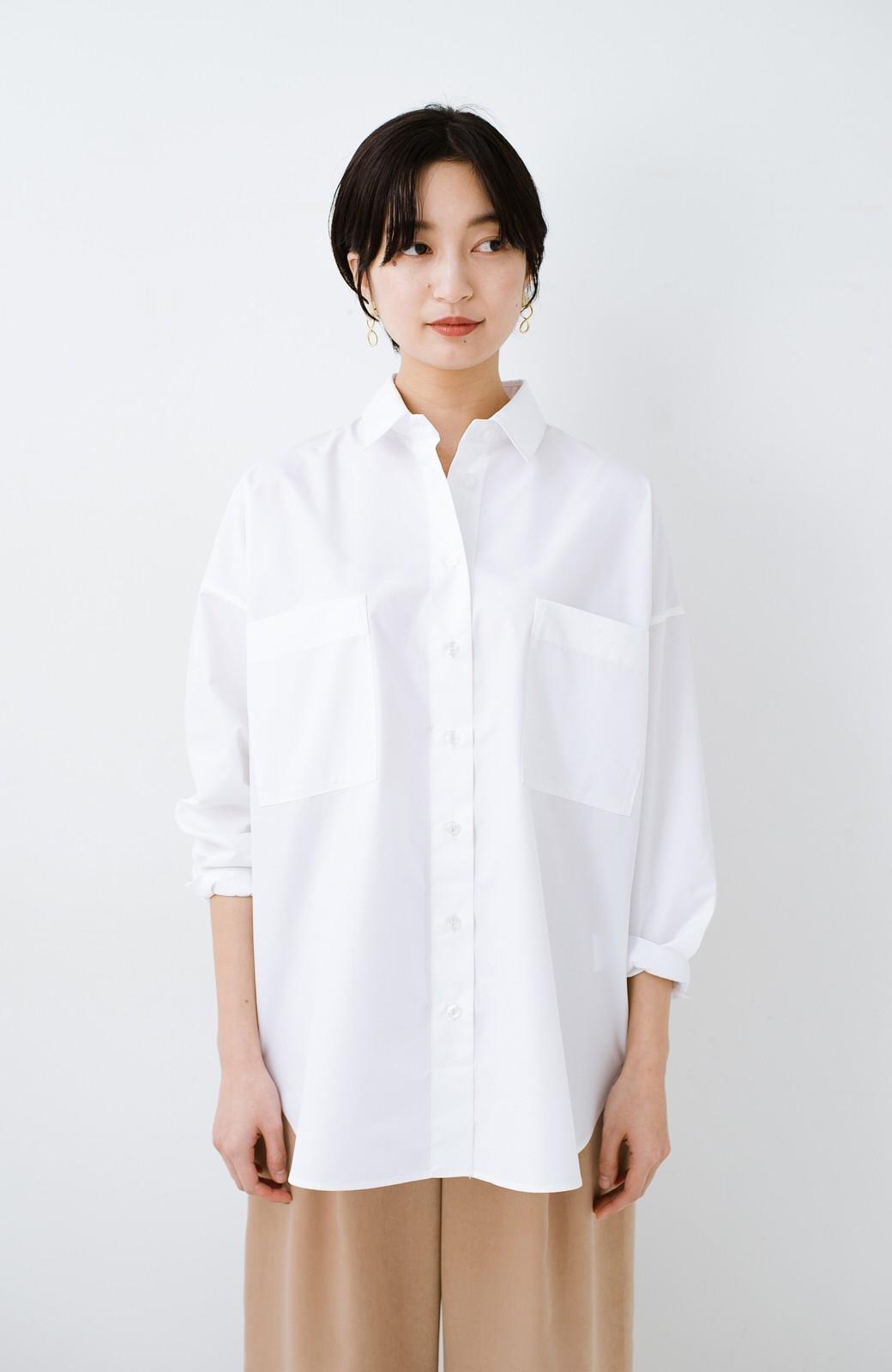 haco! サイズ感がオシャレに見せてくれる 真面目すぎないビッグシャツ <ホワイト>の商品写真10