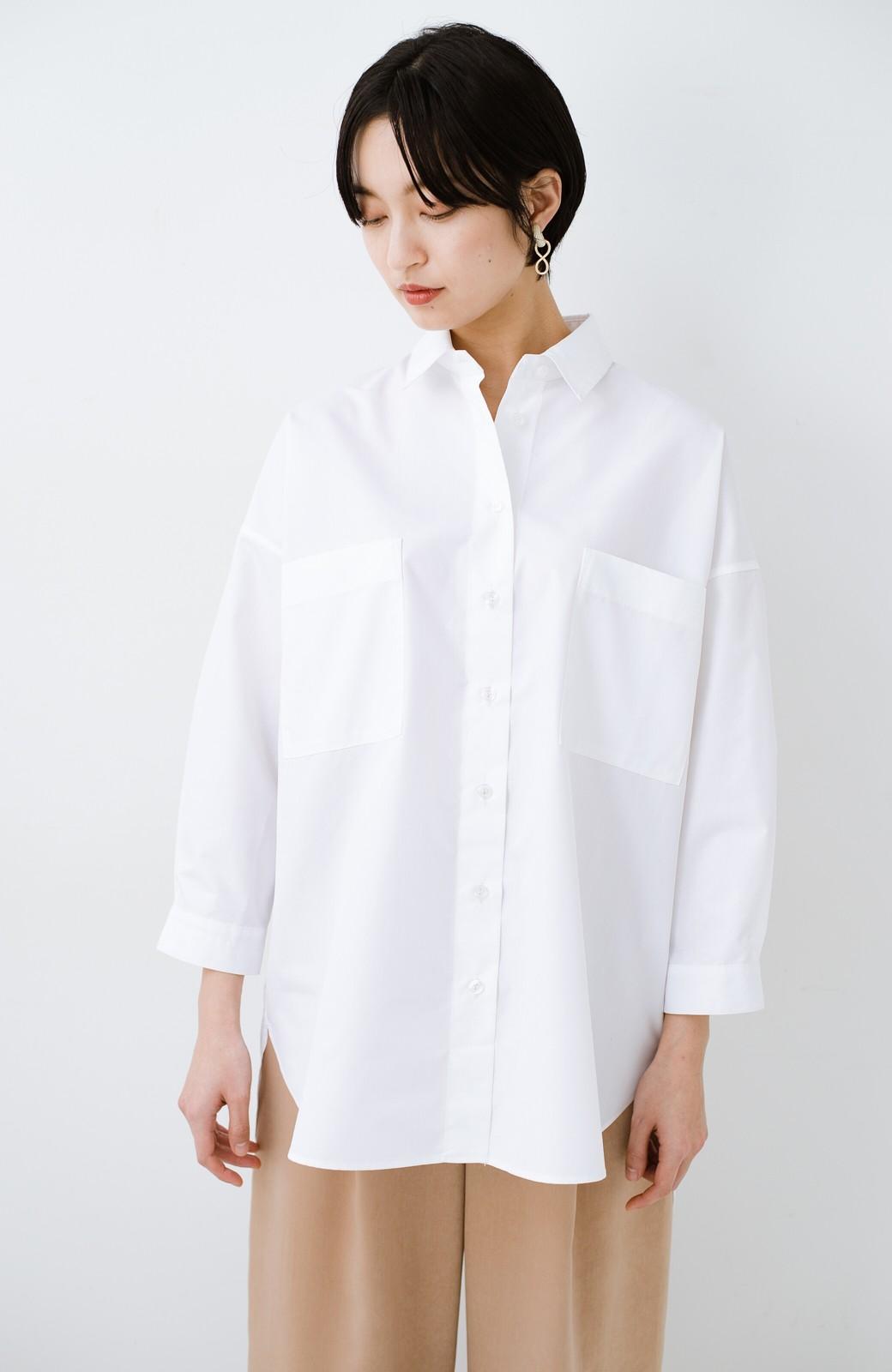 haco! サイズ感がオシャレに見せてくれる 真面目すぎないビッグシャツ <ホワイト>の商品写真13