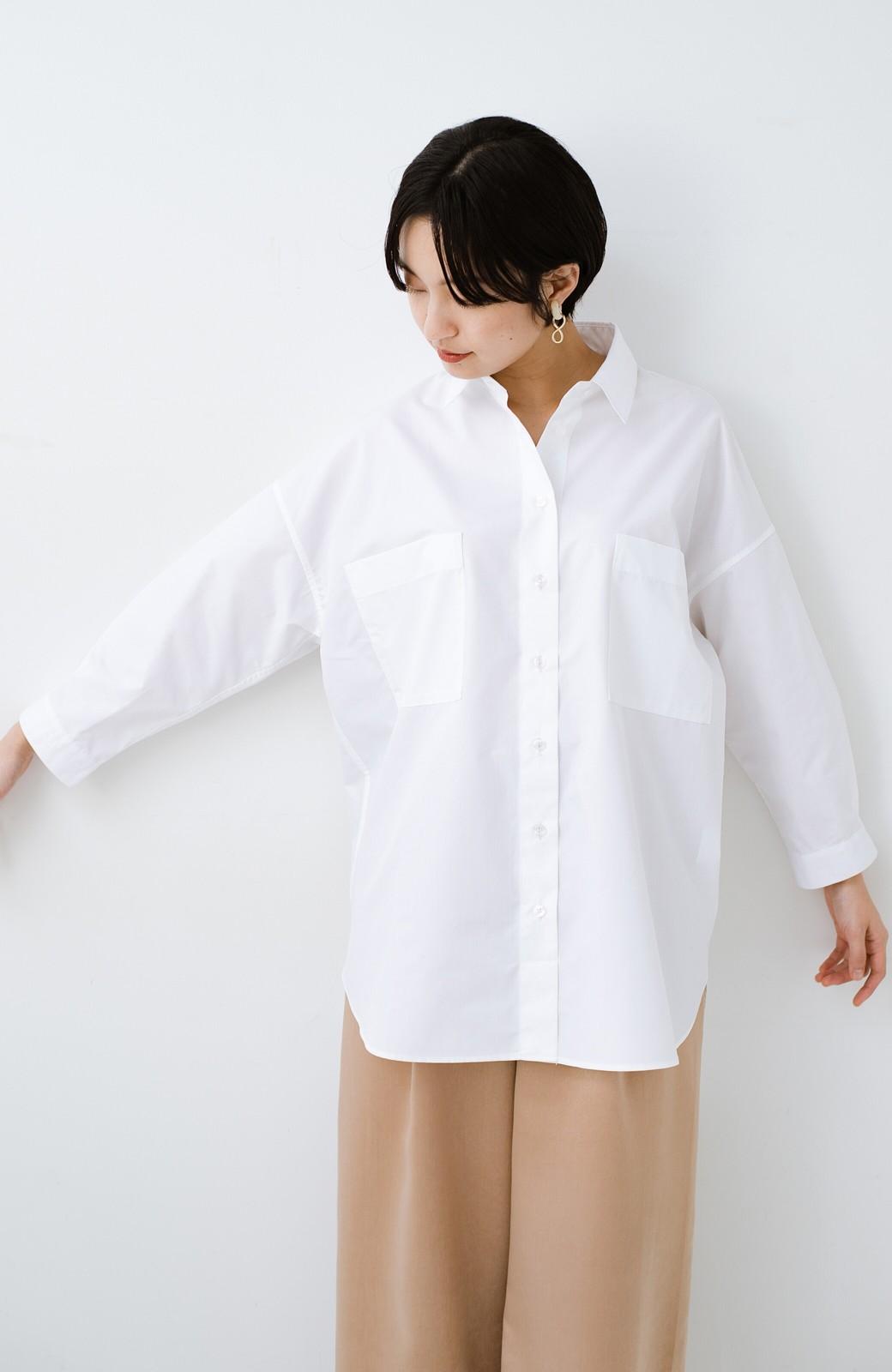 haco! サイズ感がオシャレに見せてくれる 真面目すぎないビッグシャツ <ホワイト>の商品写真14