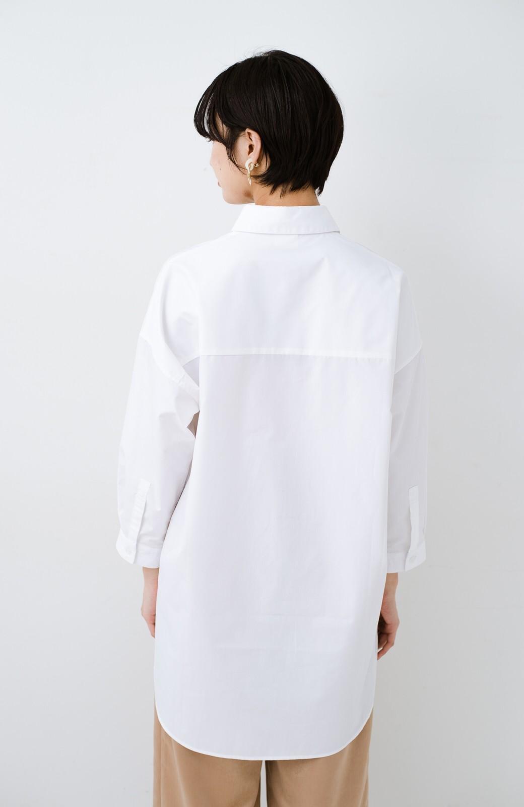 haco! サイズ感がオシャレに見せてくれる 真面目すぎないビッグシャツ <ホワイト>の商品写真12
