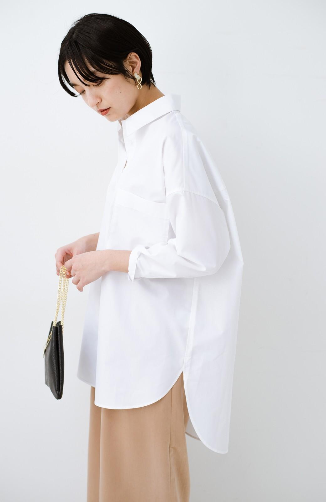 haco! サイズ感がオシャレに見せてくれる 真面目すぎないビッグシャツ <ホワイト>の商品写真15