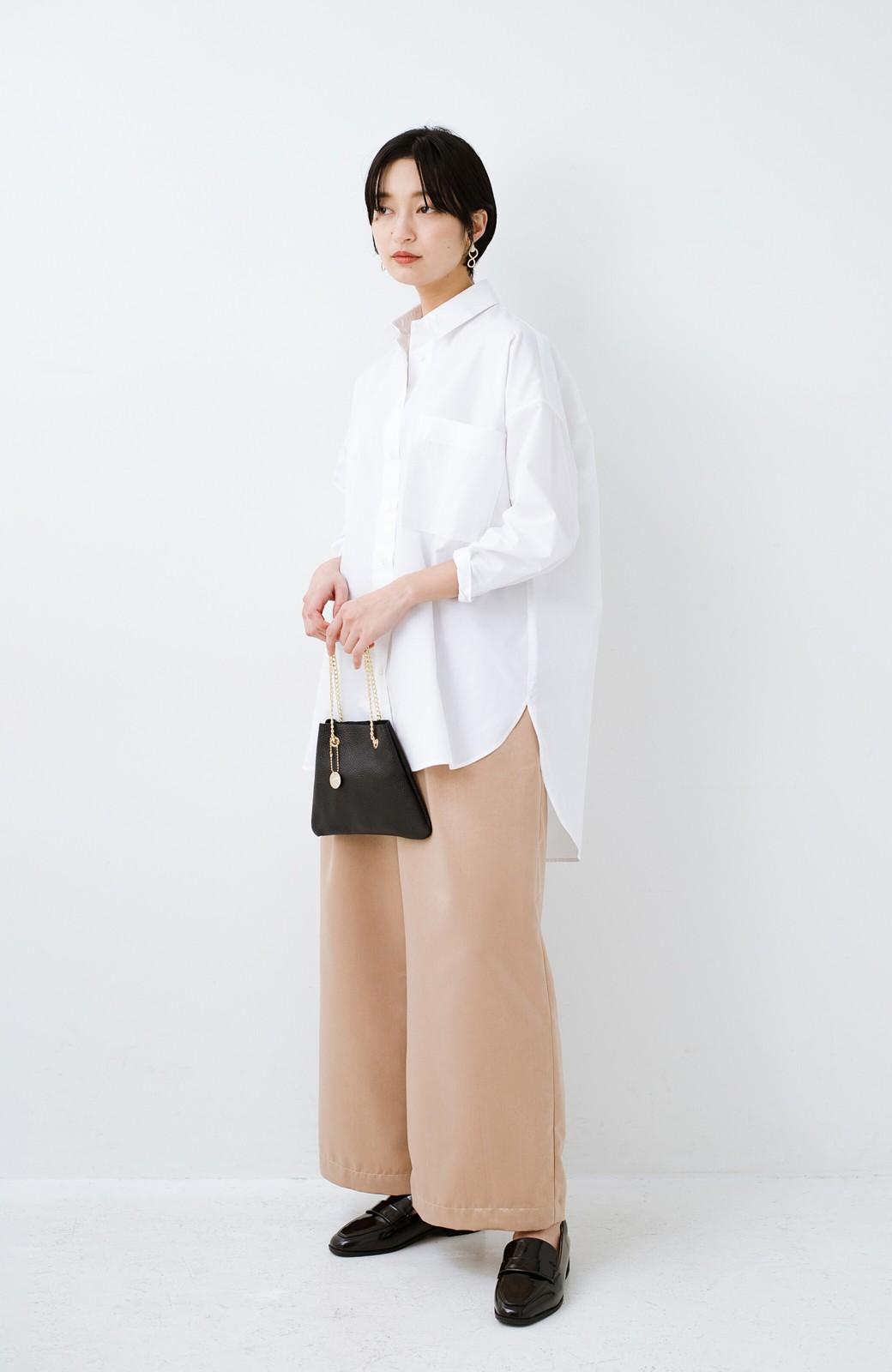 haco! サイズ感がオシャレに見せてくれる 真面目すぎないビッグシャツ <ホワイト>の商品写真2