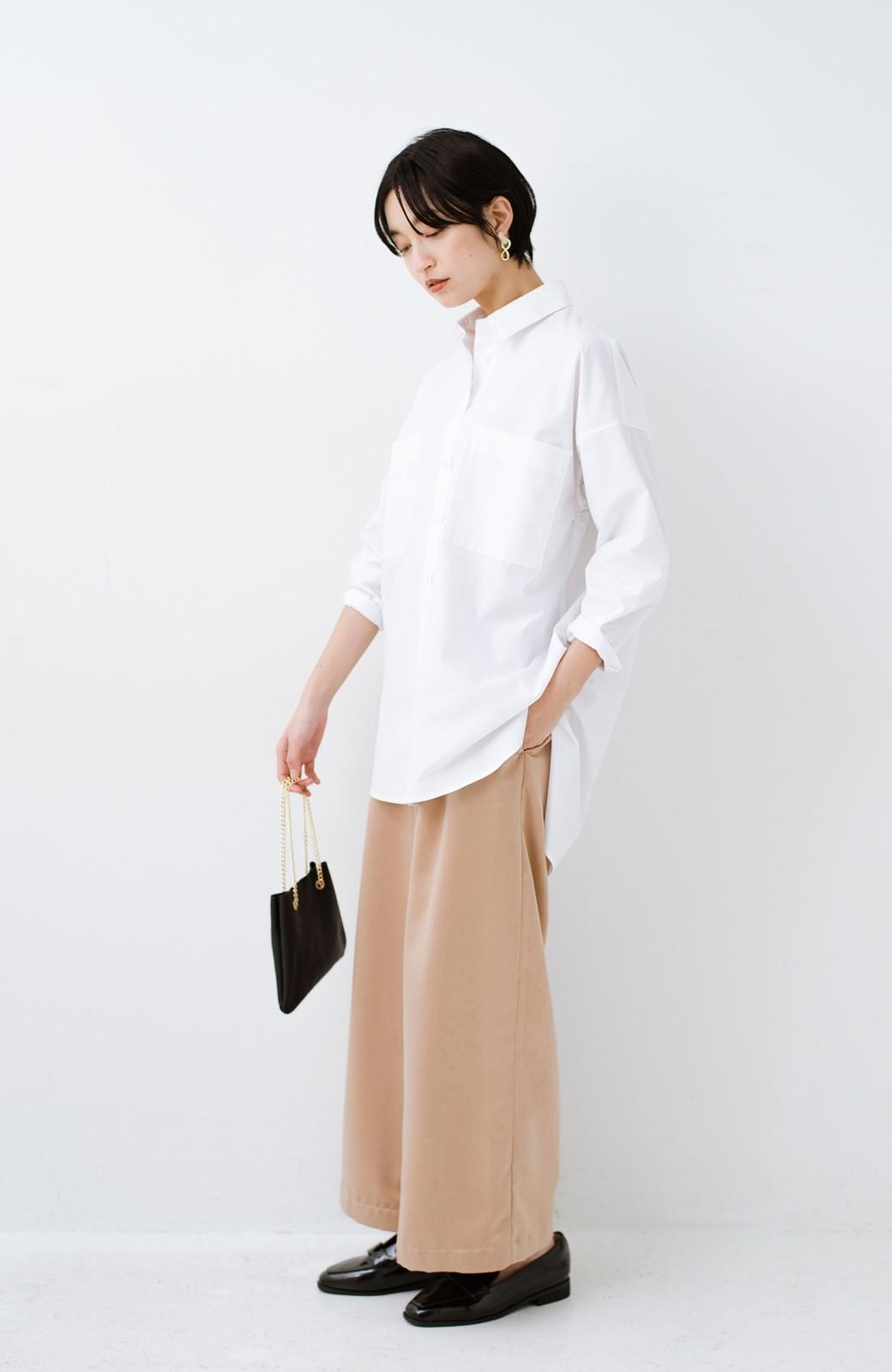 haco! サイズ感がオシャレに見せてくれる 真面目すぎないビッグシャツ <ホワイト>の商品写真9