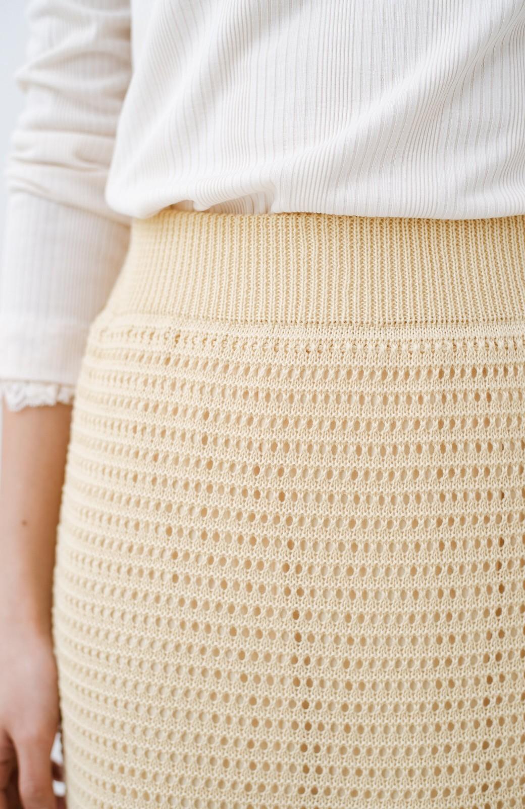 haco! 単品はもちろん重ね着してもかわいさが増す!透かし編みマーメイドスカート <アイボリー>の商品写真10