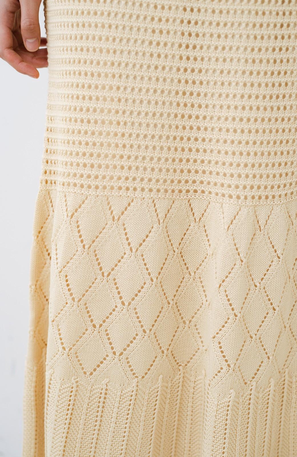 haco! 単品はもちろん重ね着してもかわいさが増す!透かし編みマーメイドスカート <アイボリー>の商品写真11